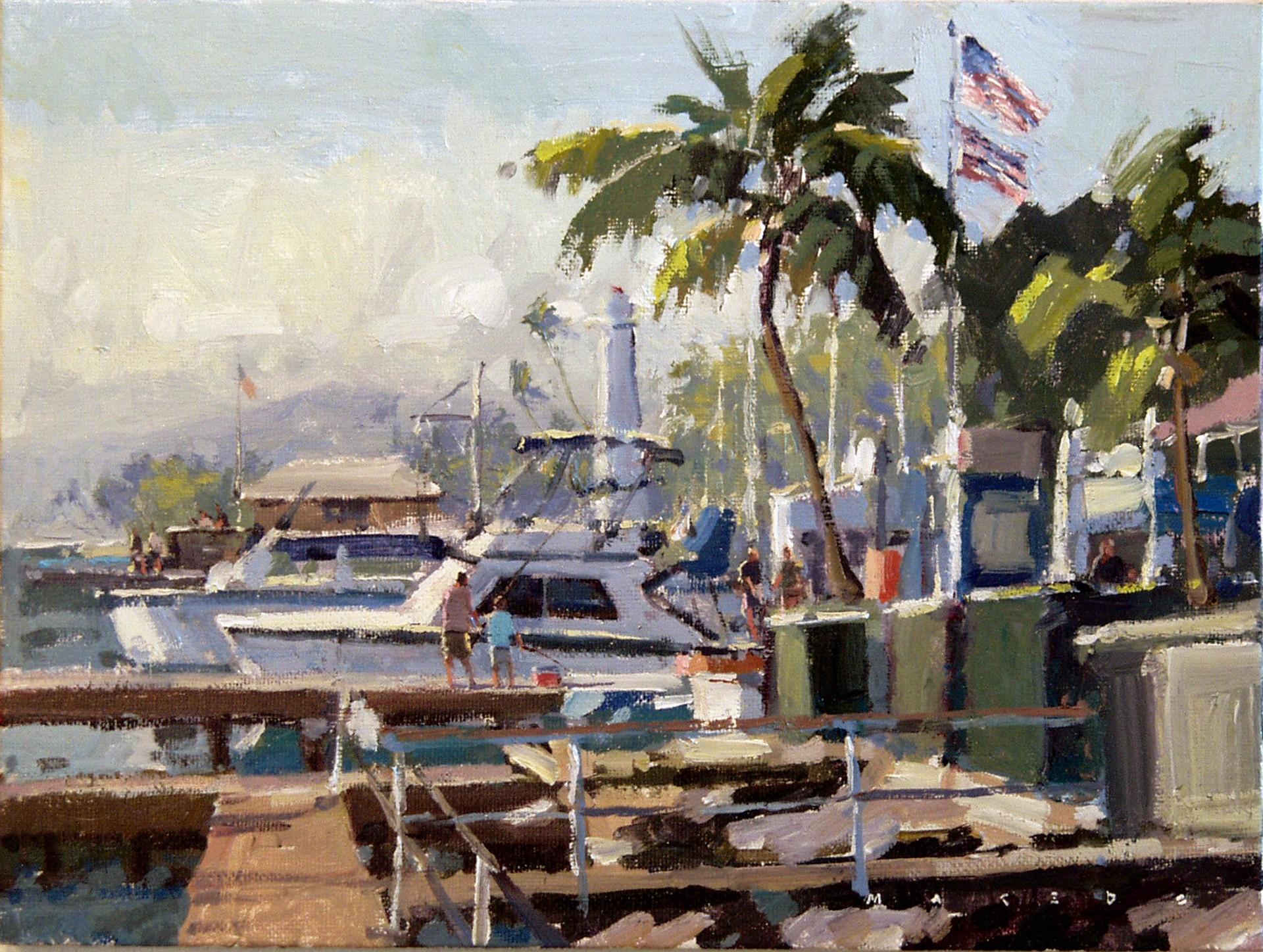 Lahaina Docks by Ronaldo Macedo