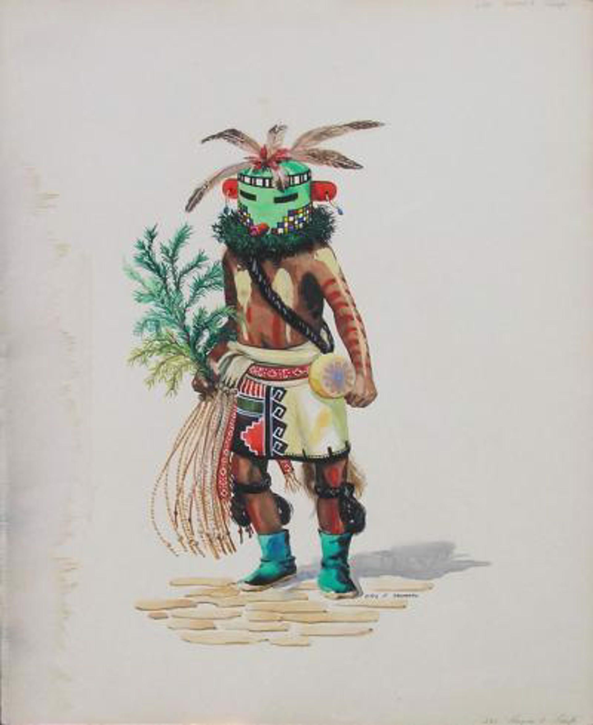 Green Kachina by Otis Thomas
