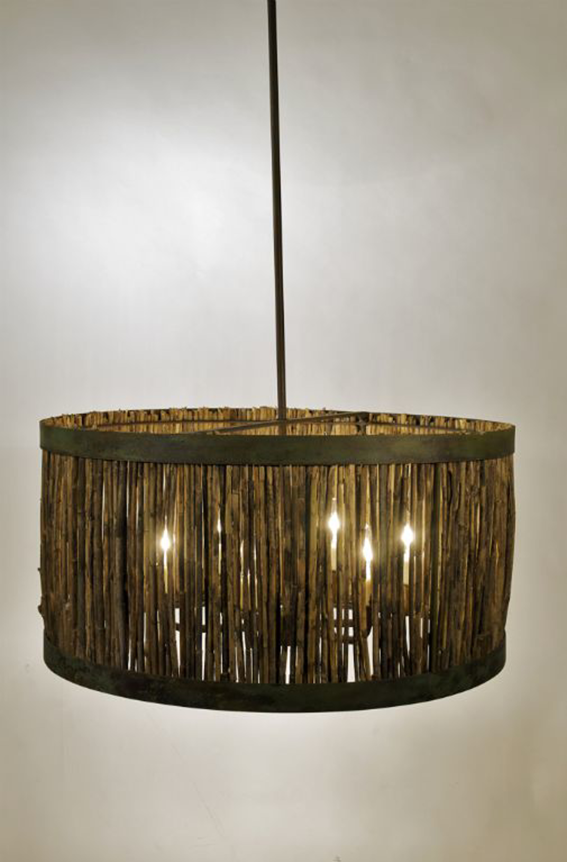 Marsh Grass Drum II by Tim Adams Iron-worker