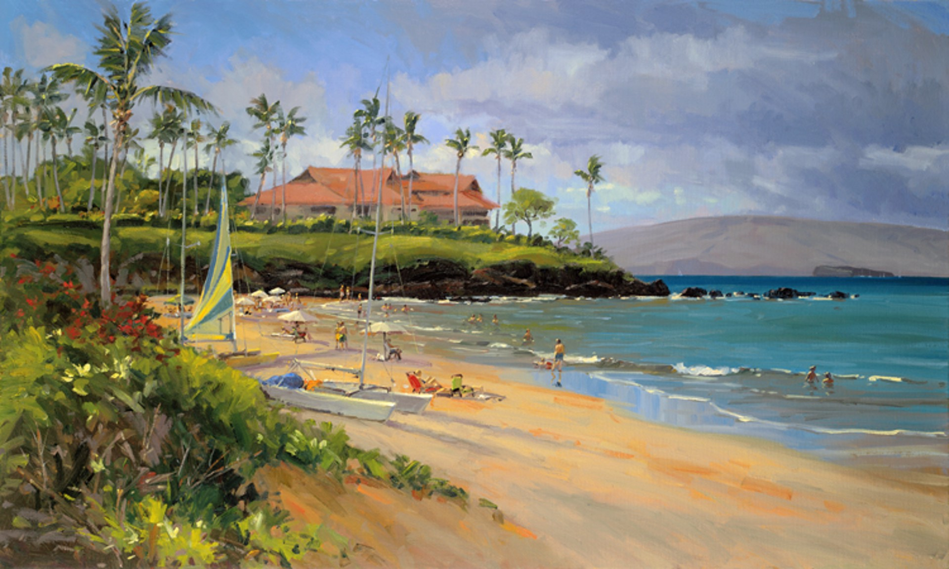 Beach Day At Wailea by Ronaldo Macedo
