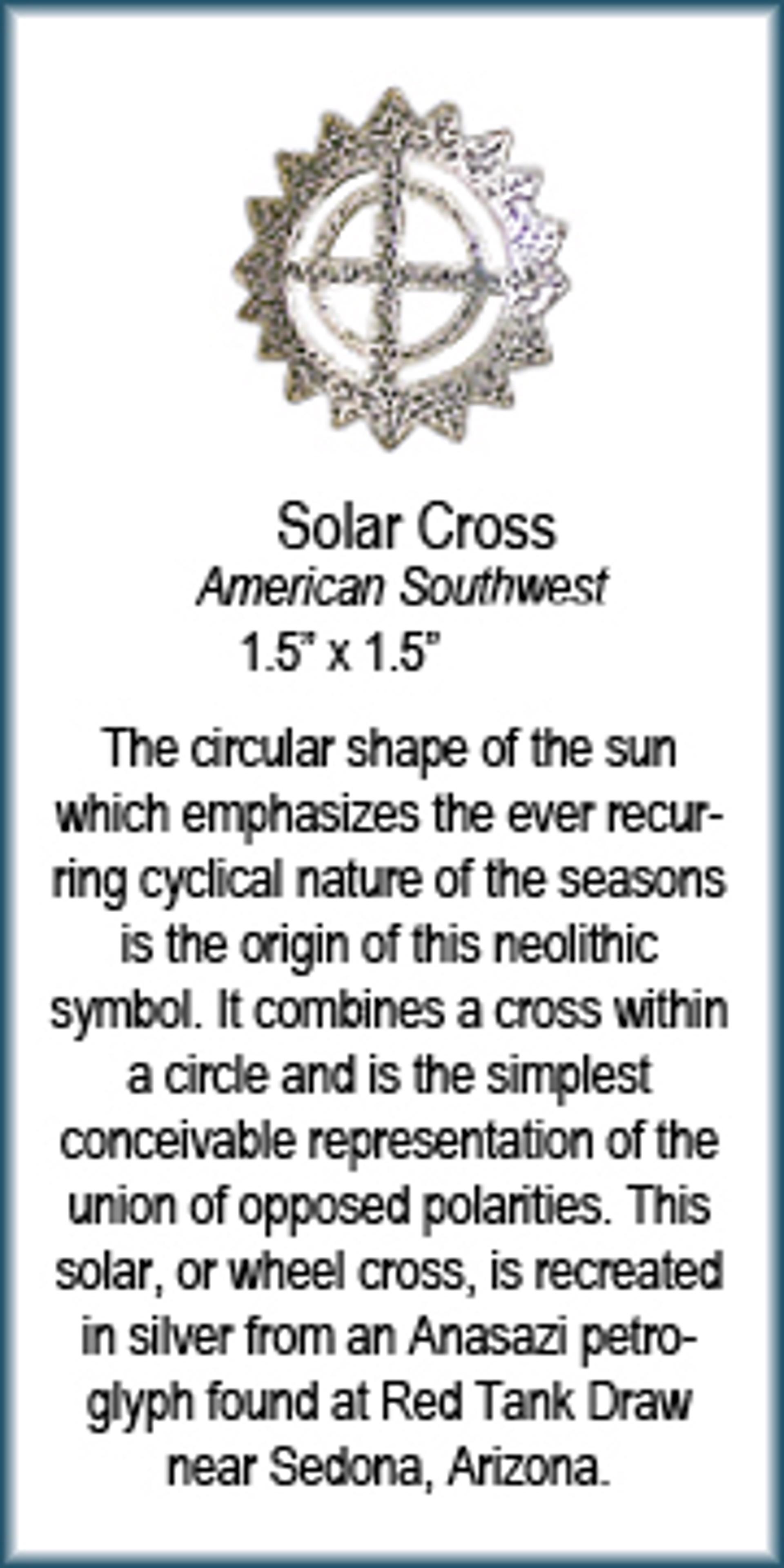 Pendant - Silver Solar Cross  6229 by Deanne McKeown