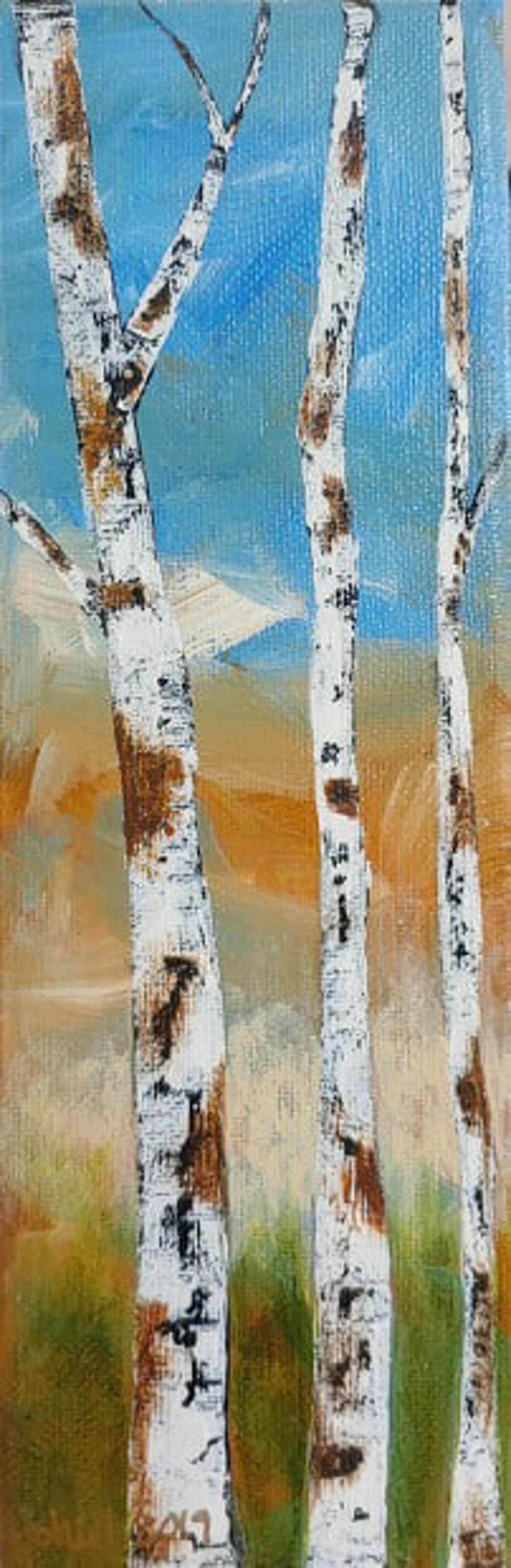Birch Trees by Shirley Hays (Yamhill, OR)