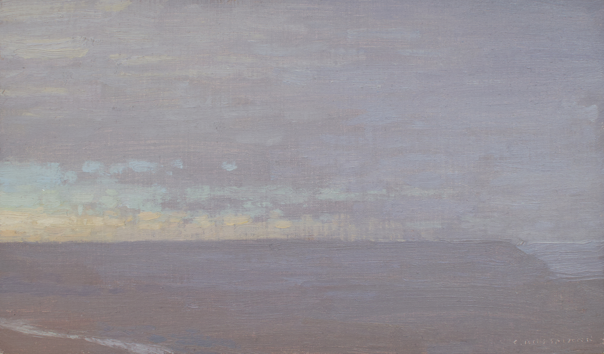 Rainy Morning View with River by David Grossmann