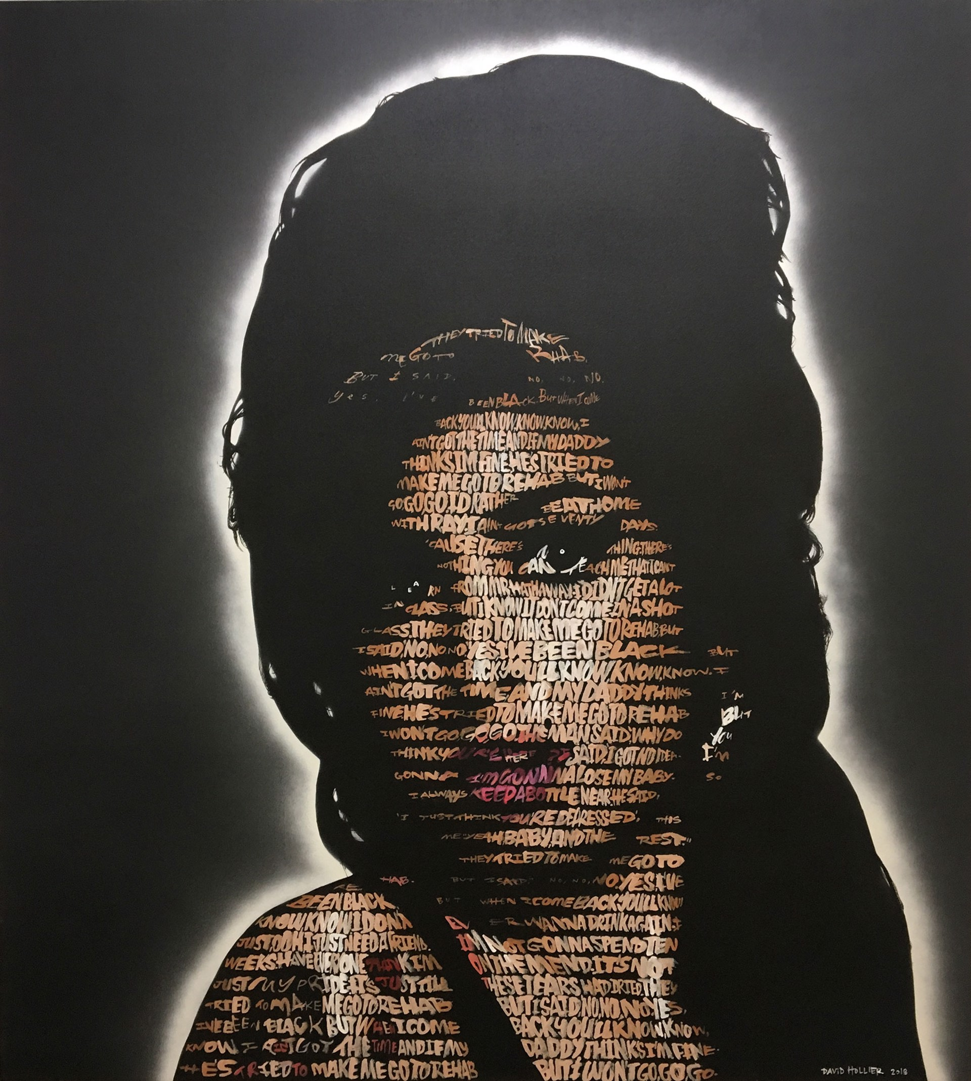 Amy Winehouse (Text: Rehab) by David Hollier