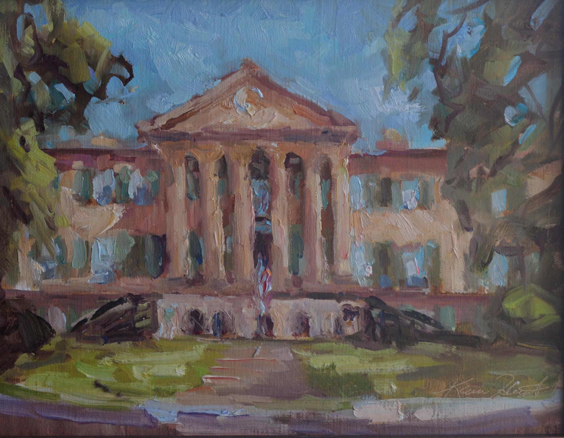 The Cistern at the College of Charleston by Karen Hewitt Hagan
