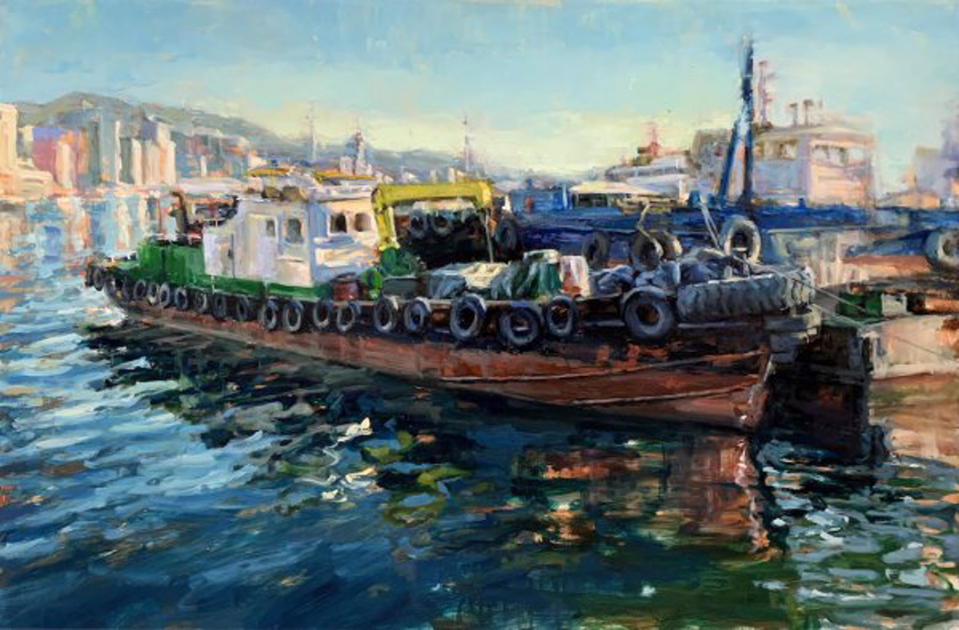 Pil Ho Lee: Busan Harbor by Pil Ho Lee