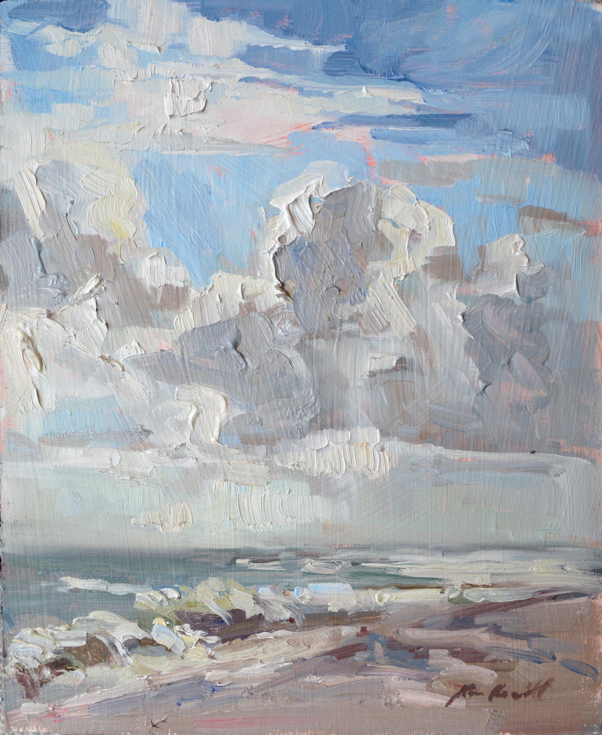 Building Clouds on the Beach by Karen Hewitt Hagan