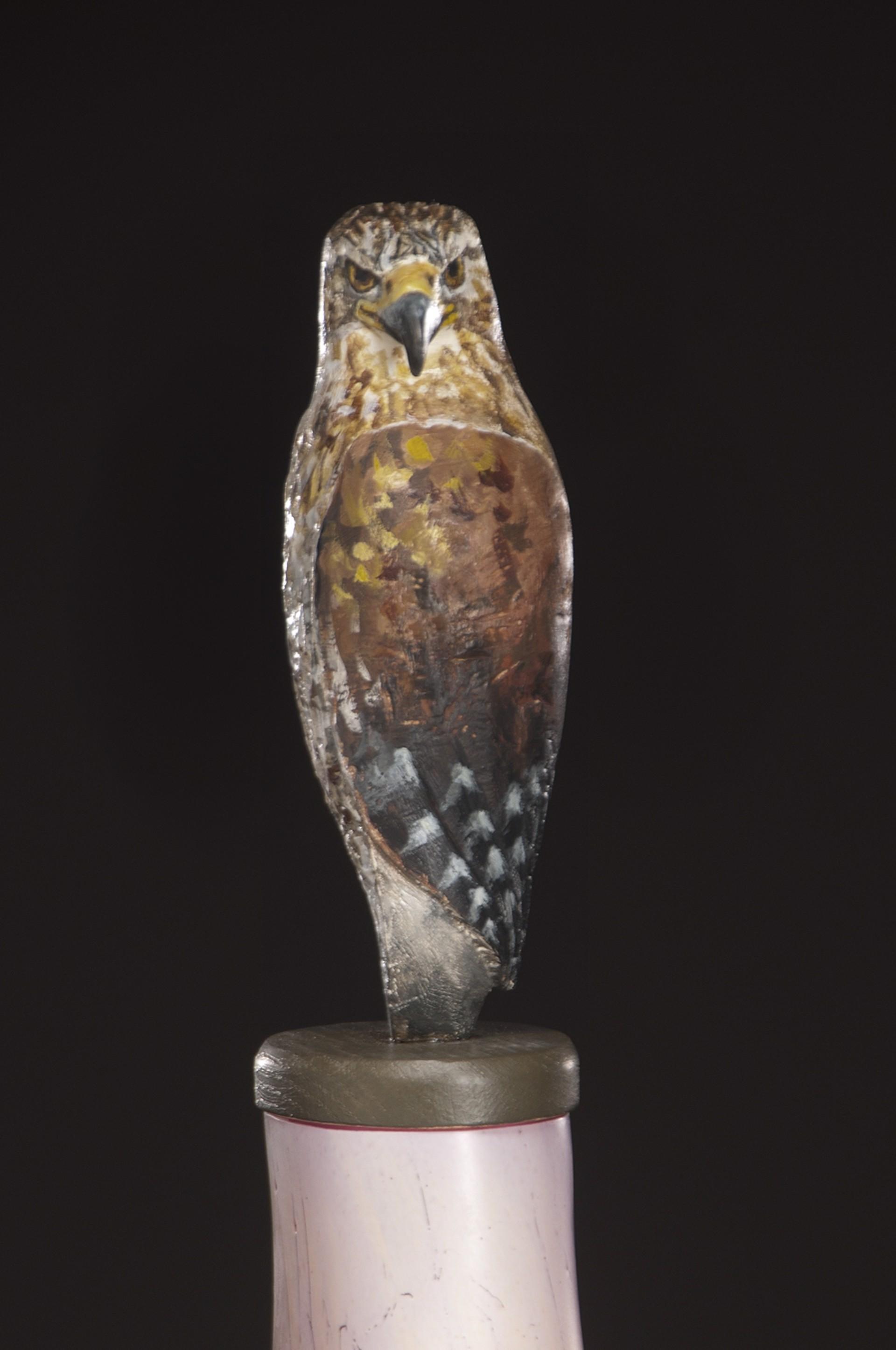 Hawk Spirit Jar by Peter Wright