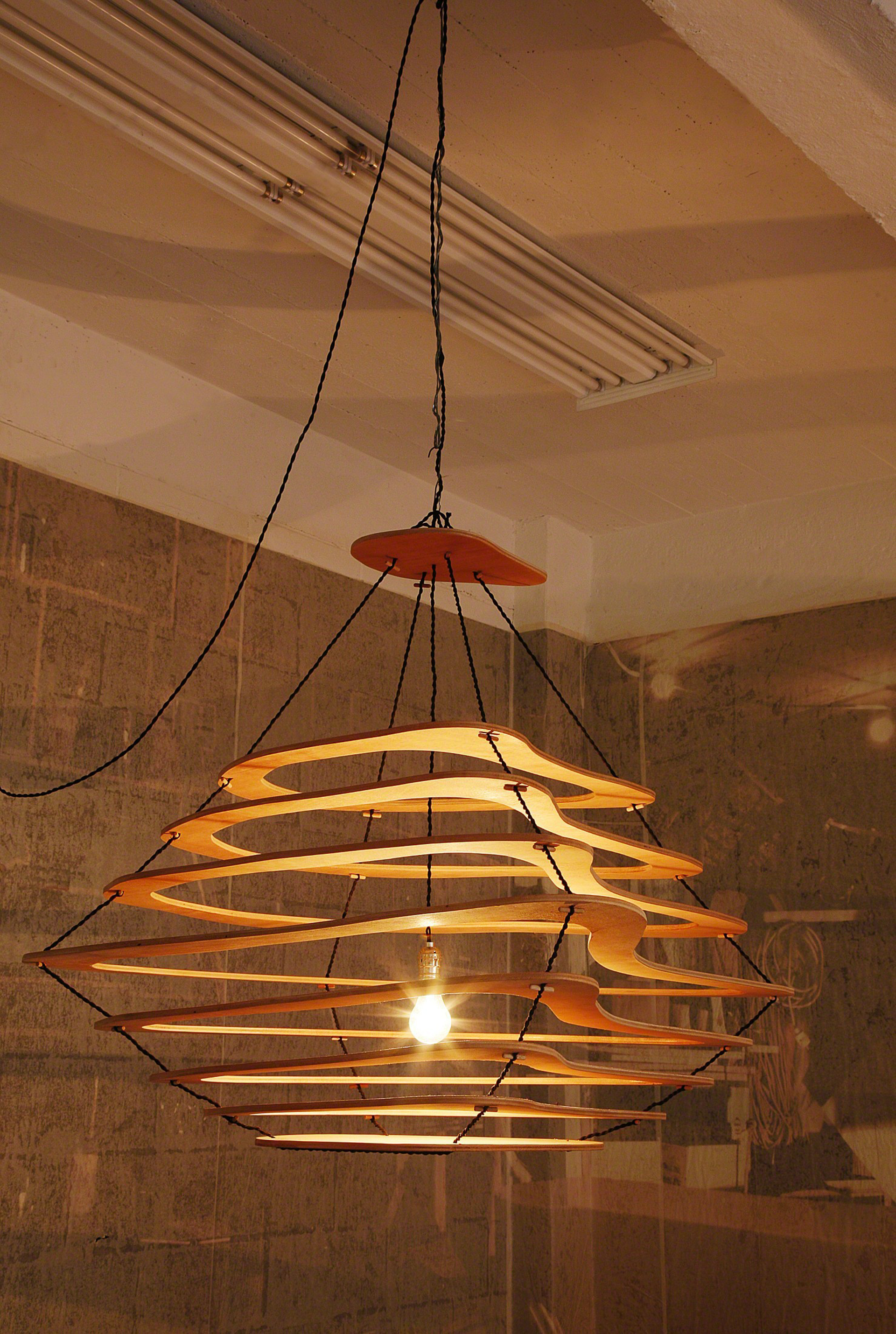 """Meanders"" Chandelier by Jacques Jarrige"