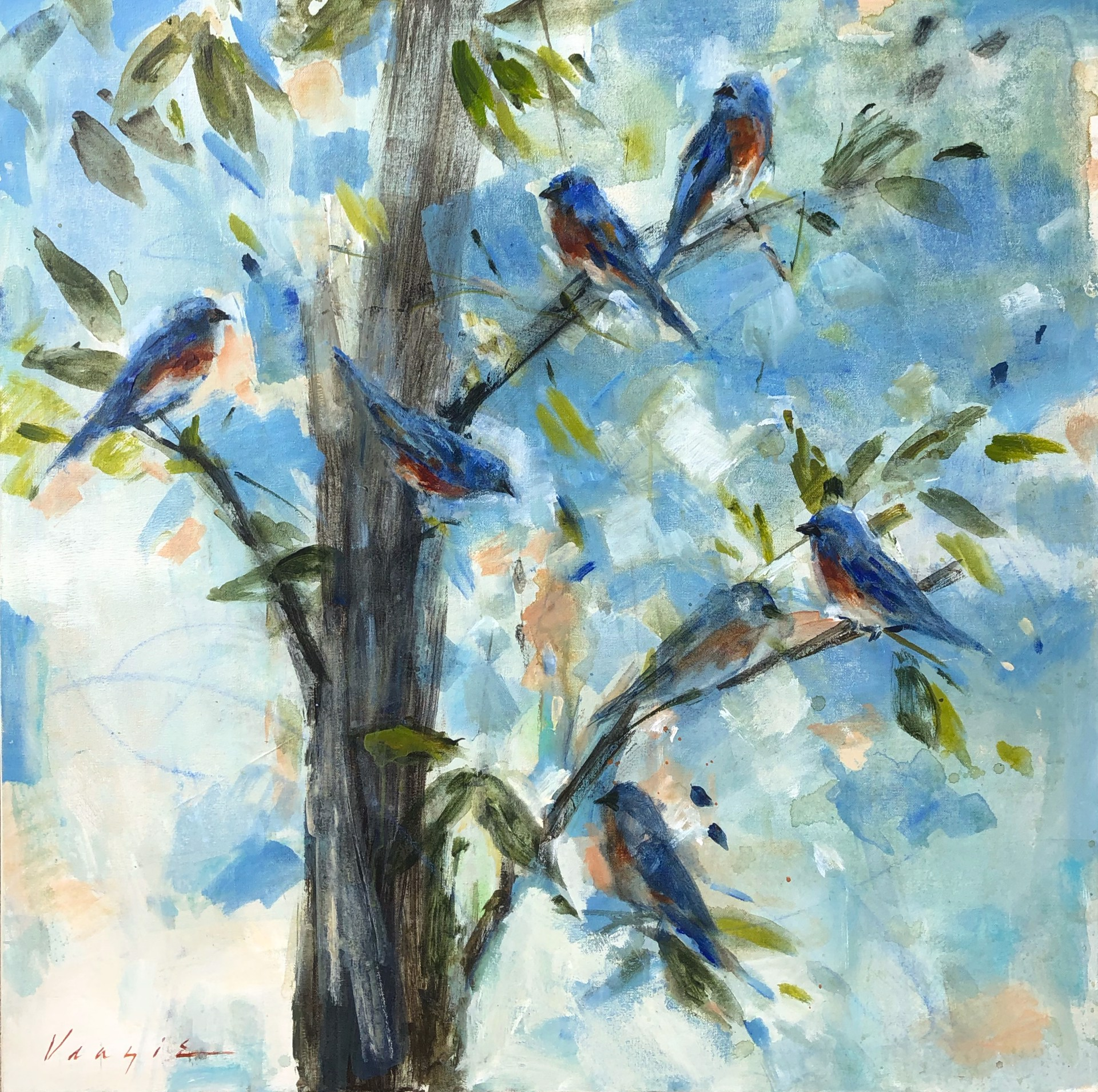 Blue Blue Birds by Mary Miller Veazie