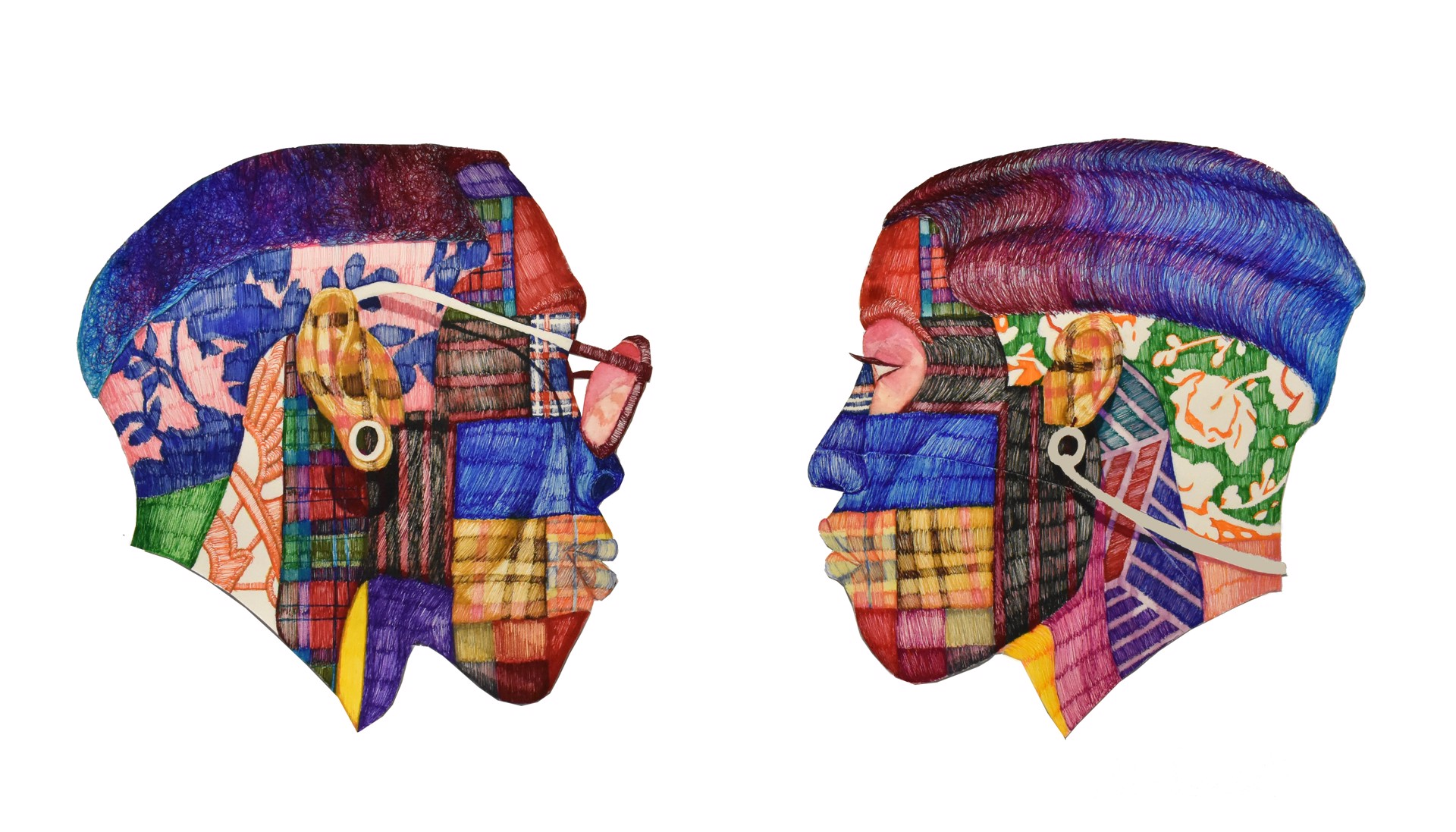 Rib of My Rib (diptych) by Michael Andrew Booker