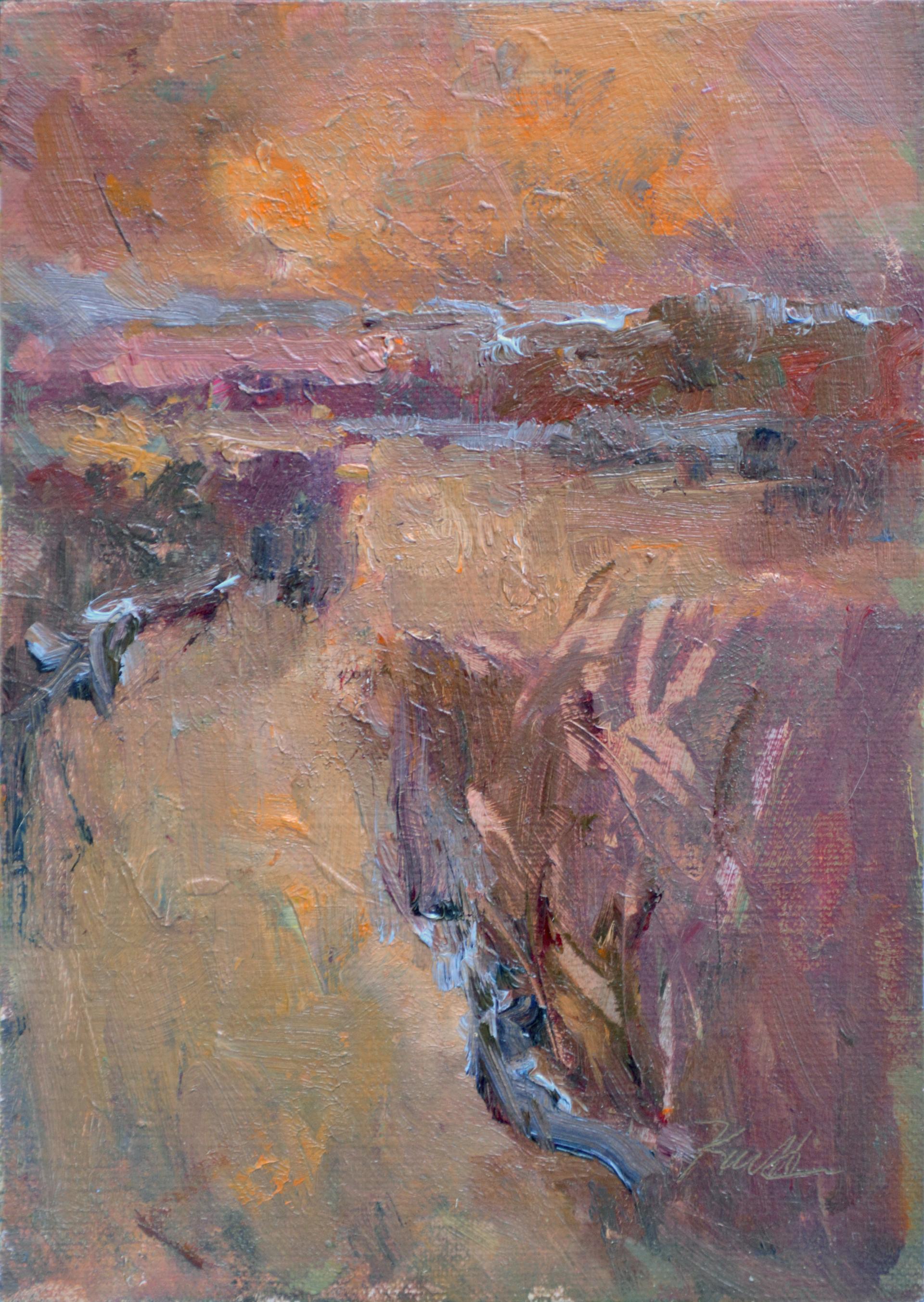 Fiery Sunset, Charleston by Karen Hewitt Hagan