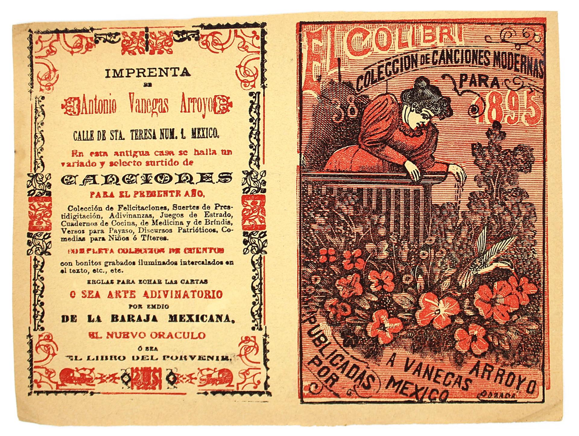 El Colibri. Colección de canciones modernas, No 38 by José Guadalupe Posada (1852 - 1913)