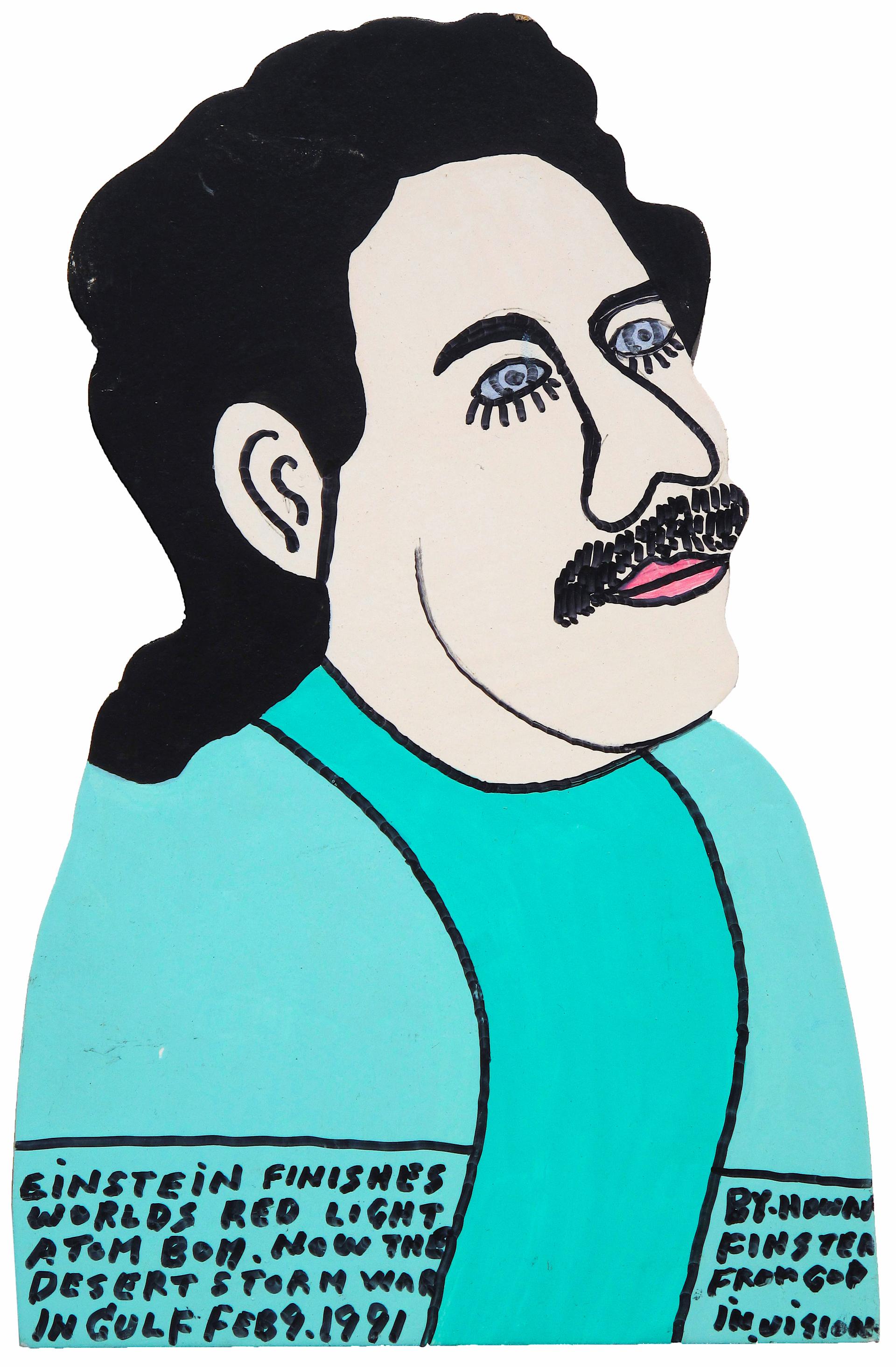 Albert Einstein by Howard Finster