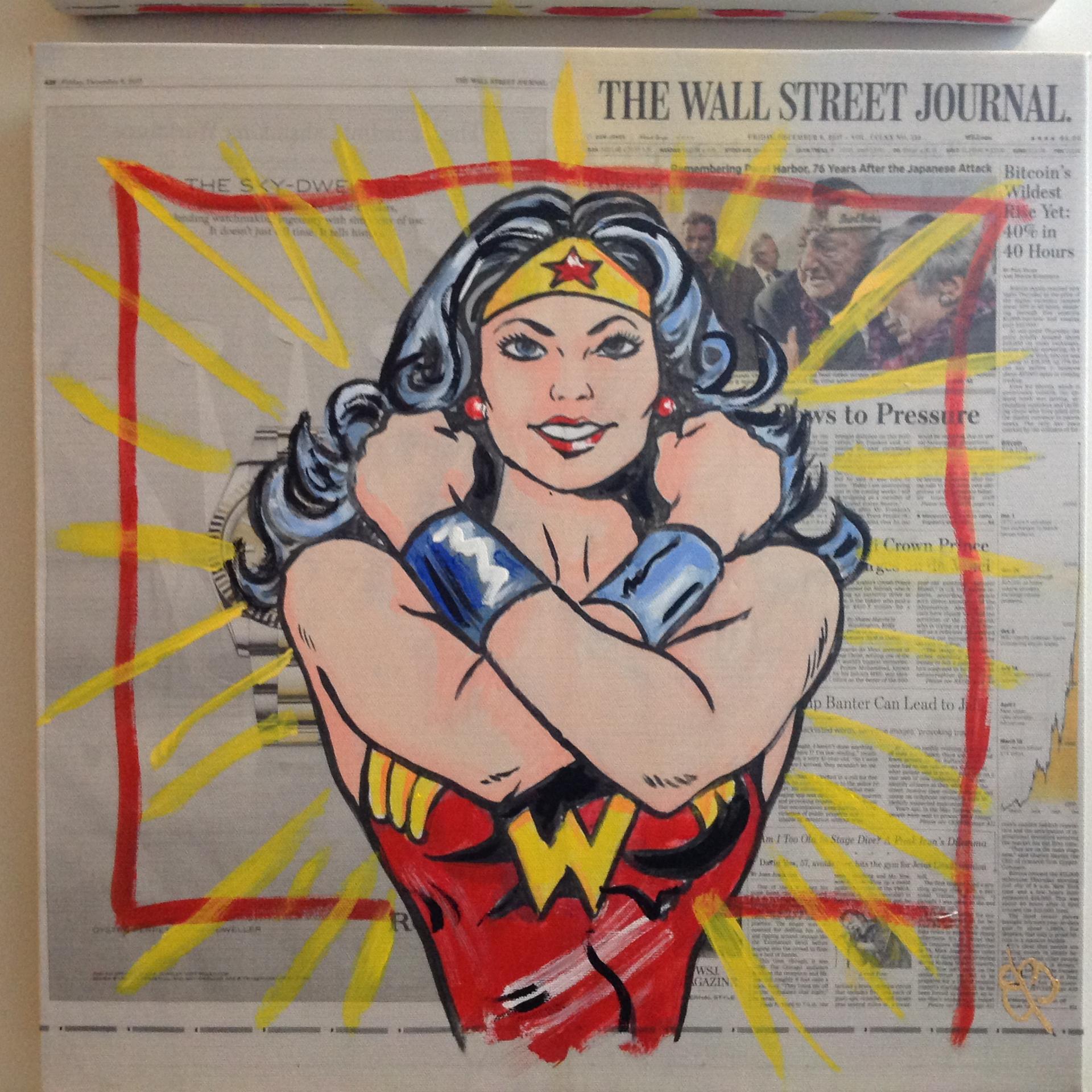 Wall Street Journal Print Wonder Woman by Elena Bulatova
