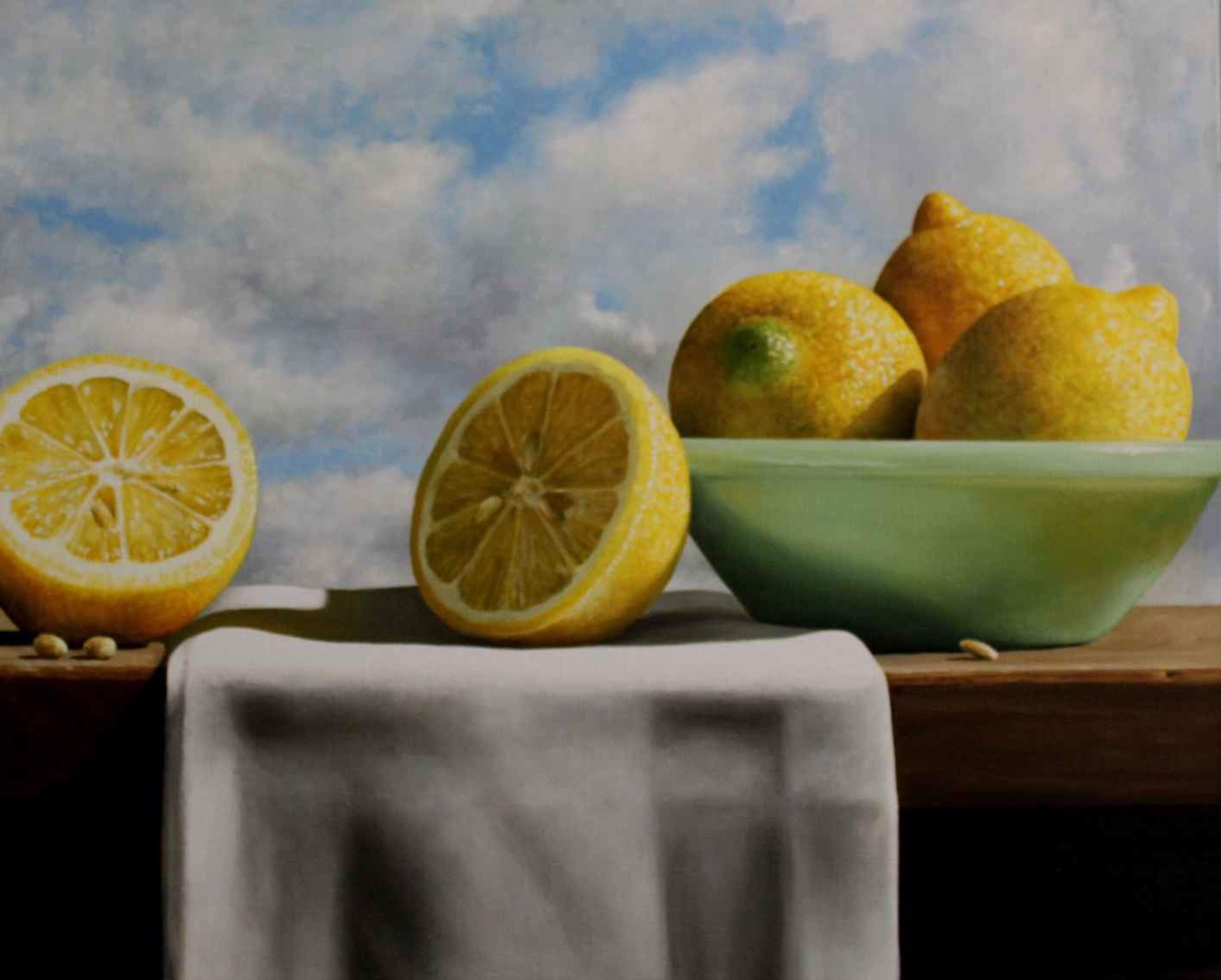 Lemons and Sky by Loren DiBenedetto