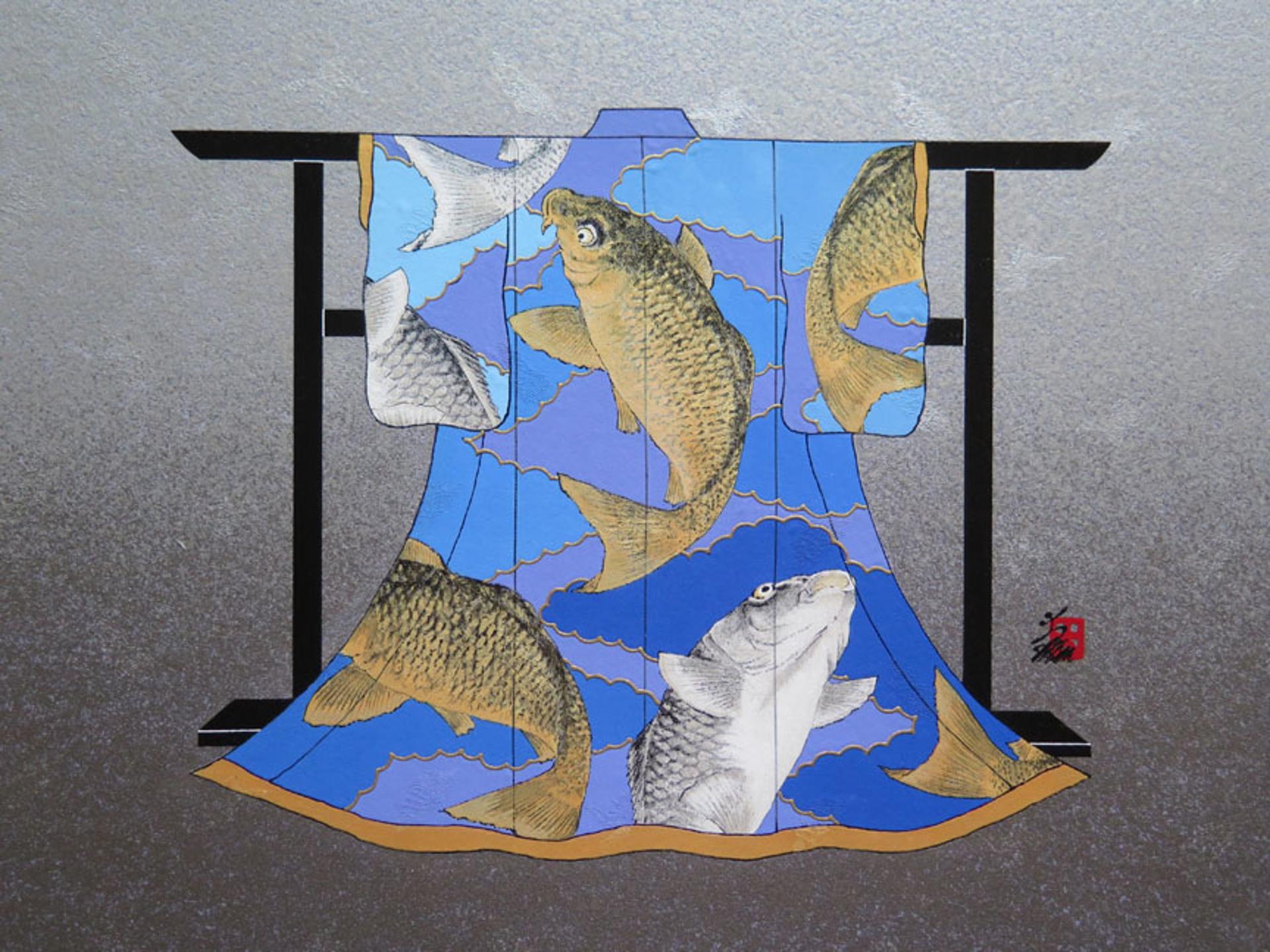 Gold Silver Koi by Hisashi Otsuka