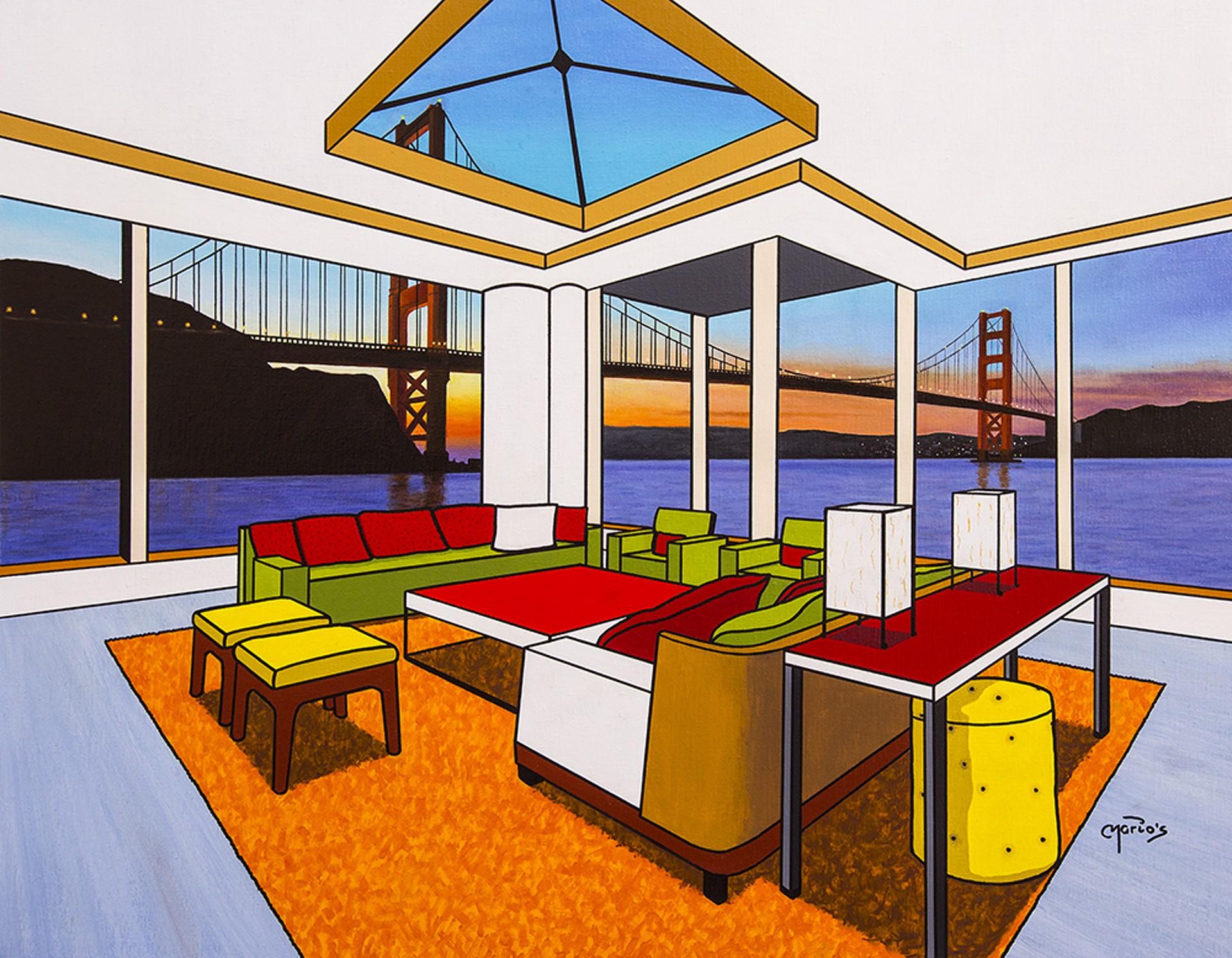 MGM438 Sunrise in San Francisco by Mario Garcia Miro