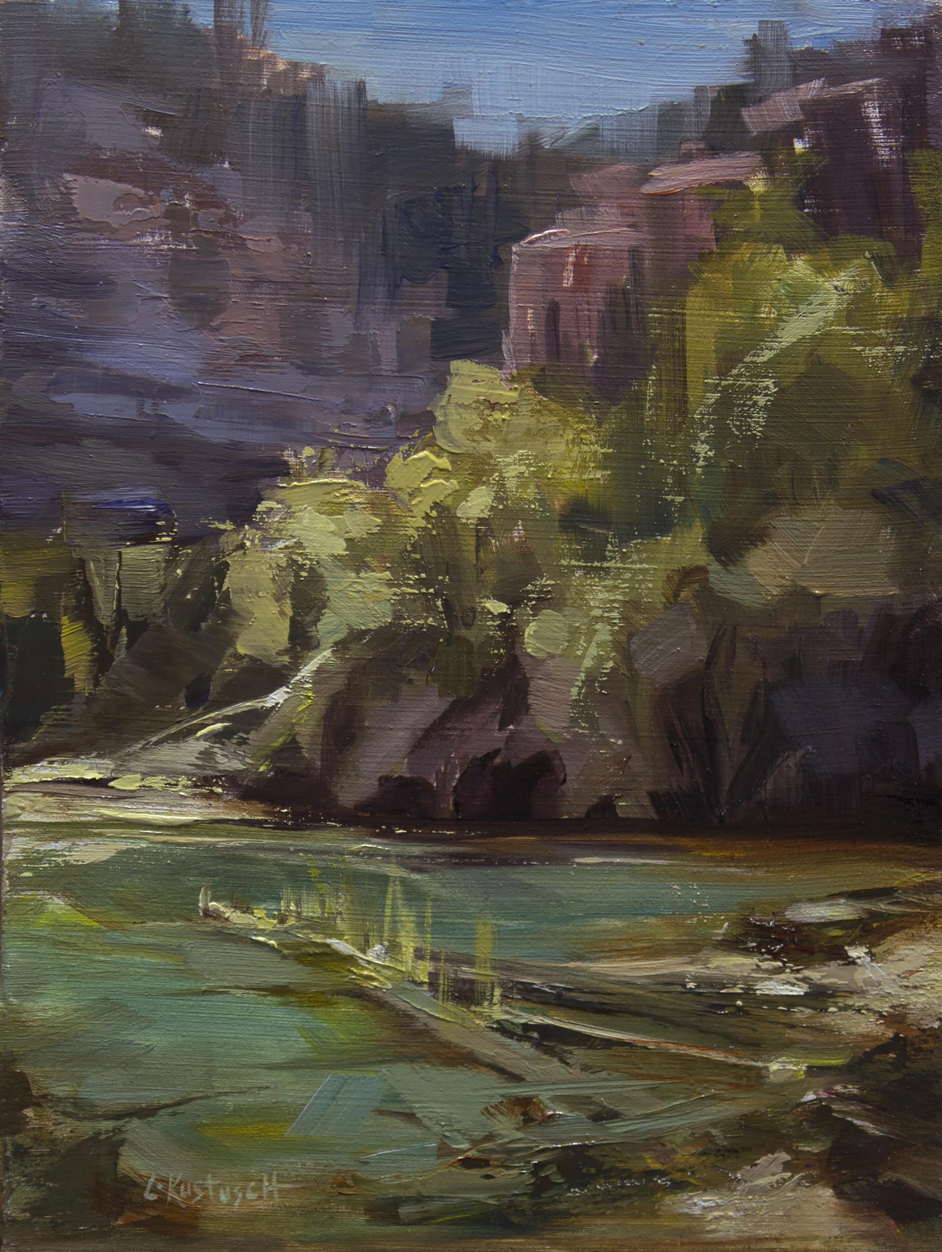Plein Air at Emerald Lake by Lindsey Kustusch