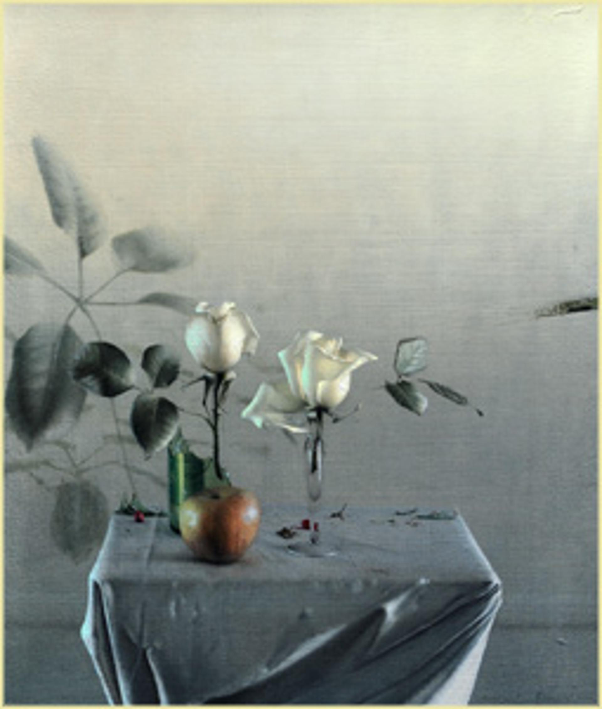 White Roses by Daniel Sprick