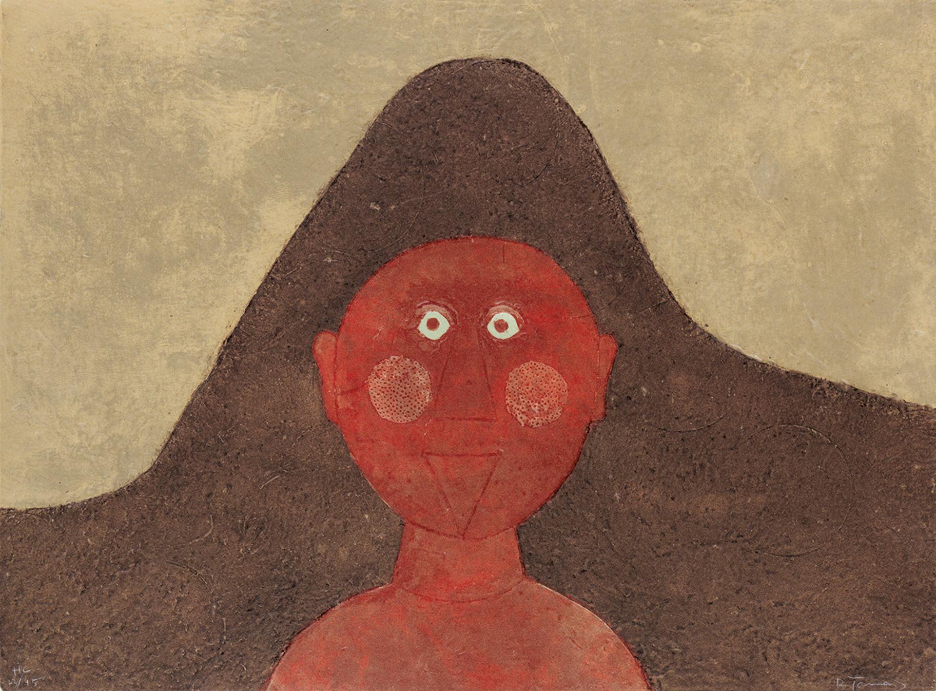 Cabeza en Rojo HC by Rufino Tamayo (1899 - 1991)