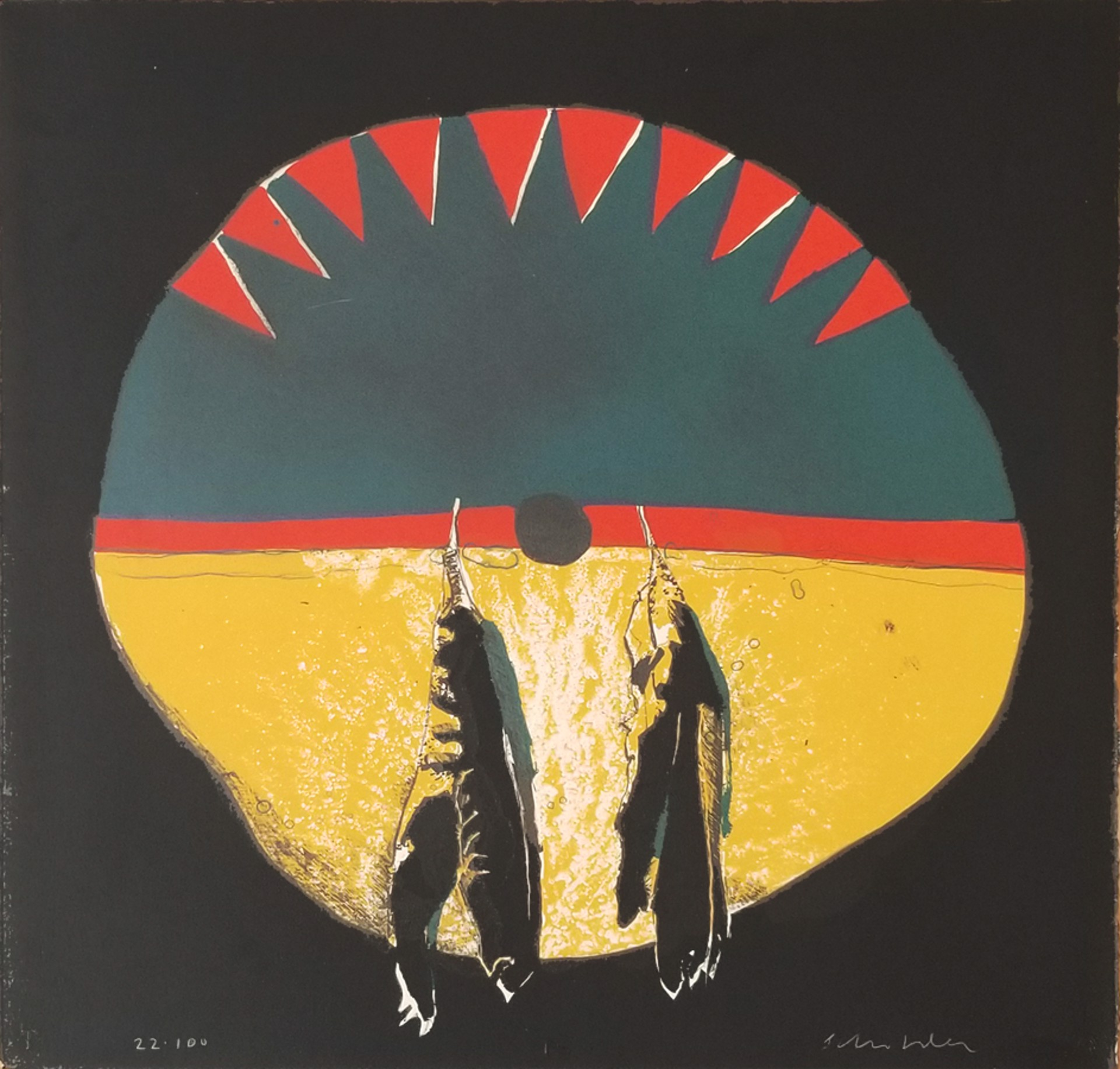 Southern Plains Shield by Fritz Scholder