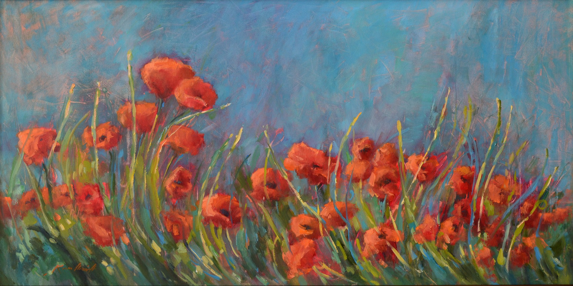 Untamed (Tuscan Poppies) by Karen Hewitt Hagan