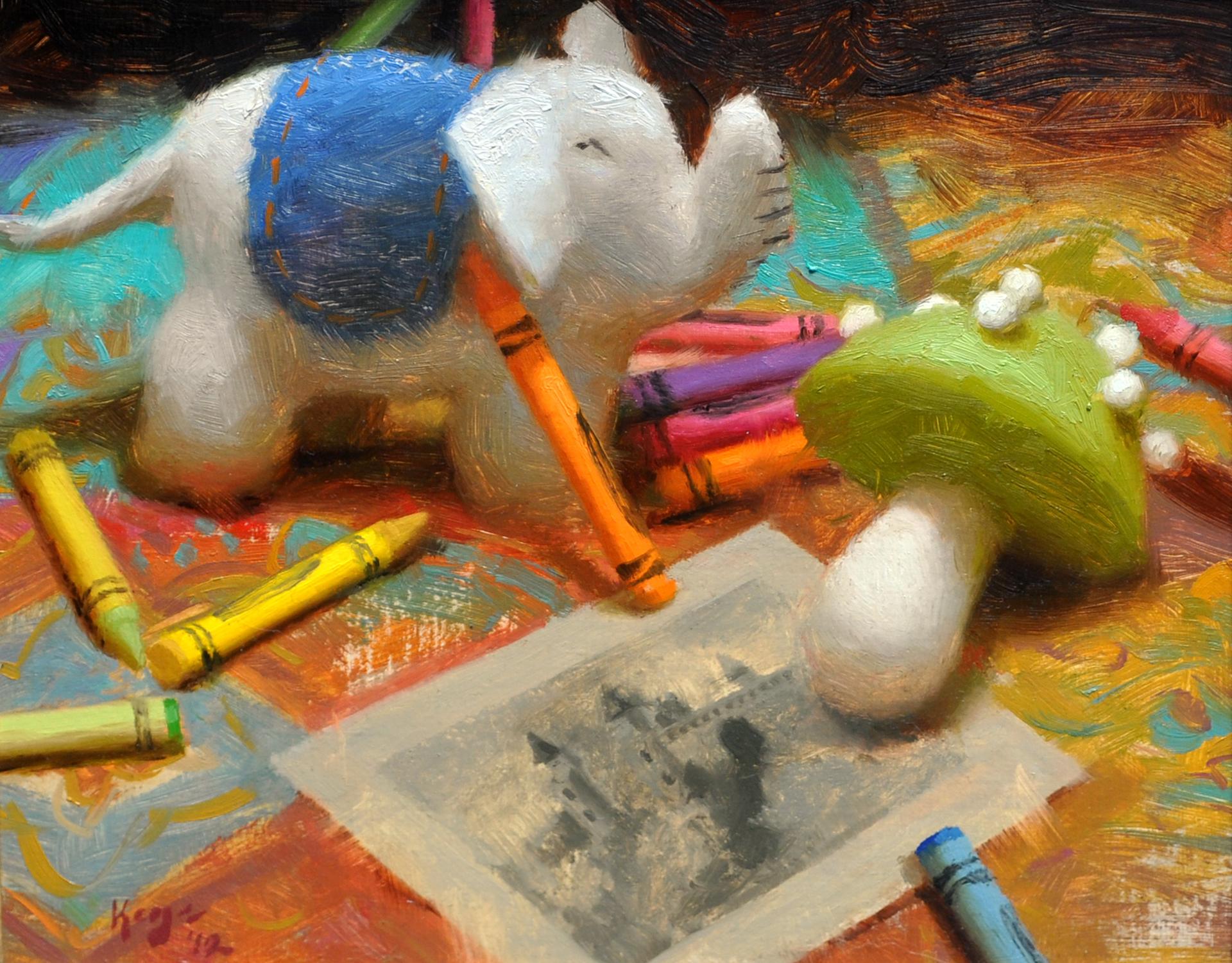 Felt and Crayons by Daniel Keys