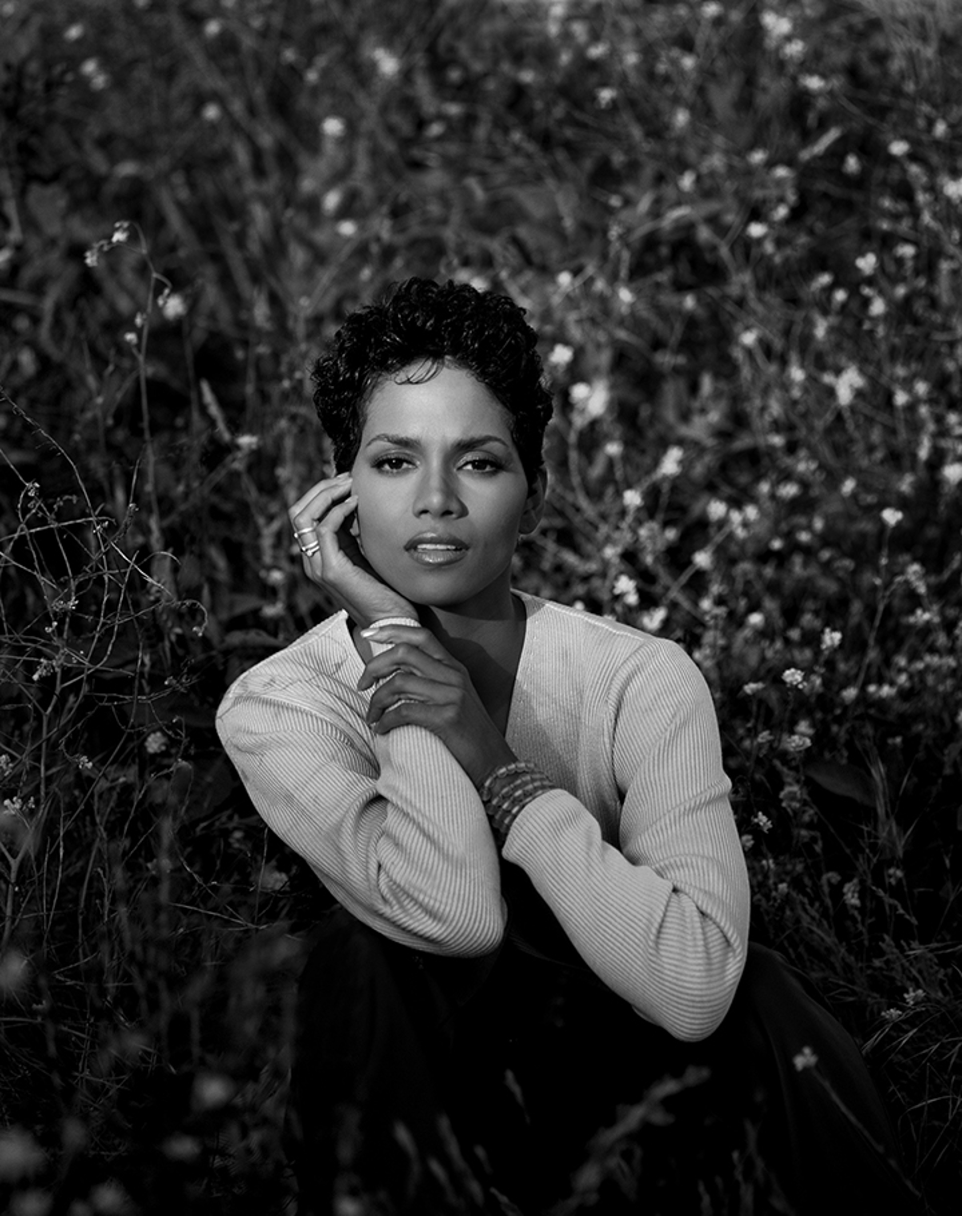 96078 Halle Berry BW by Timothy White