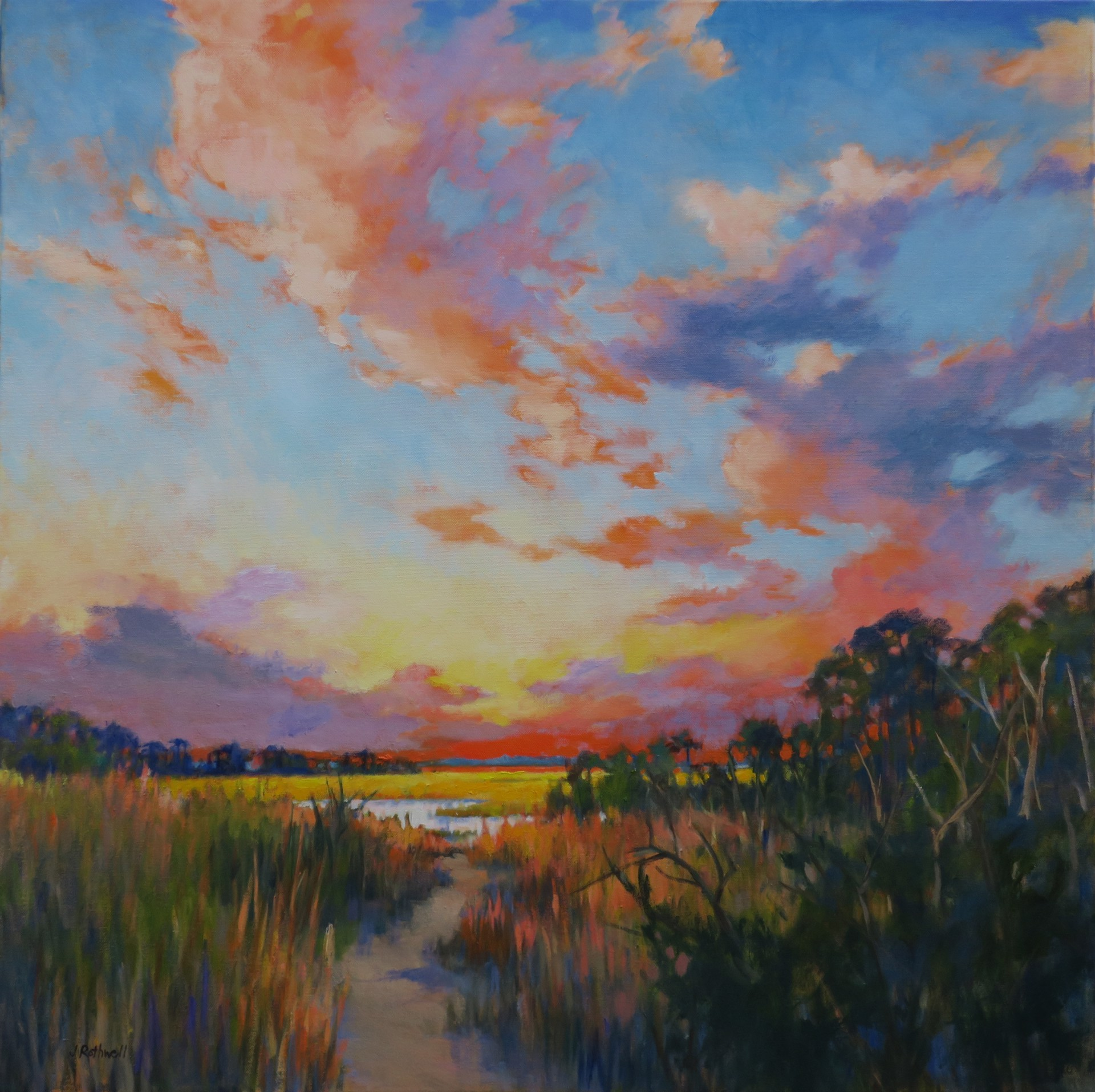 Path to the Marsh by Junko Ono Rothwell