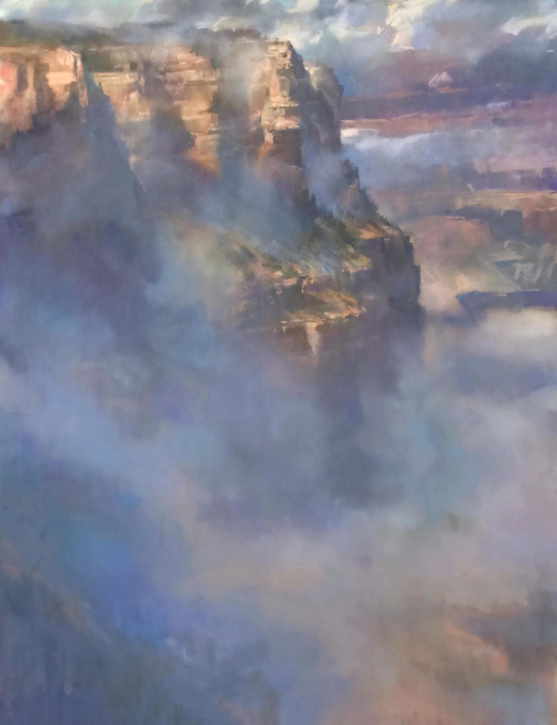 John, El Canyon y la Bruma by Bruce A Gómez