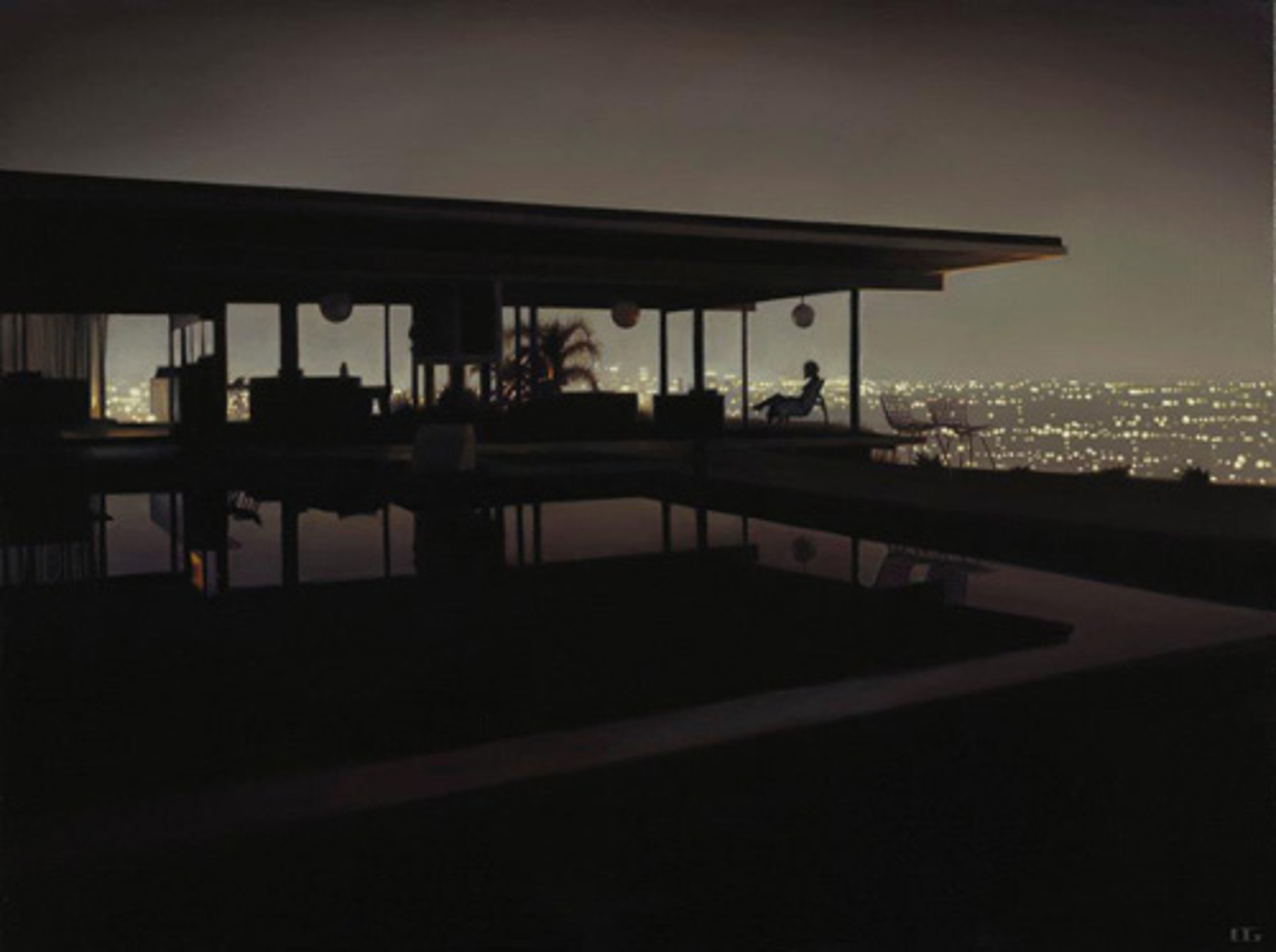Stahl House at Night (S/N) by Carrie Graber