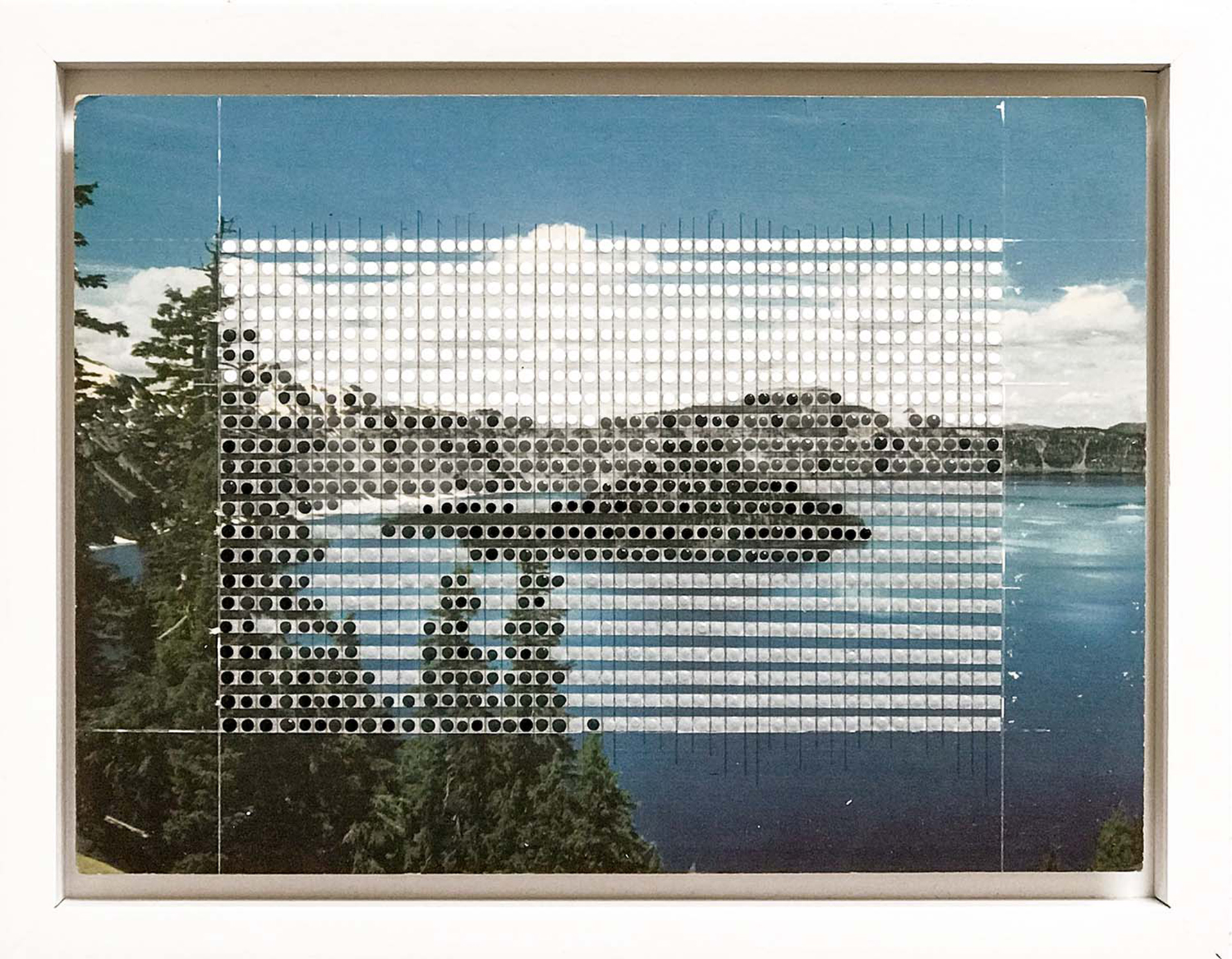 Borrowed Landscapes Study No. 90 Oregon, Crater Lake  by Nina Tichava