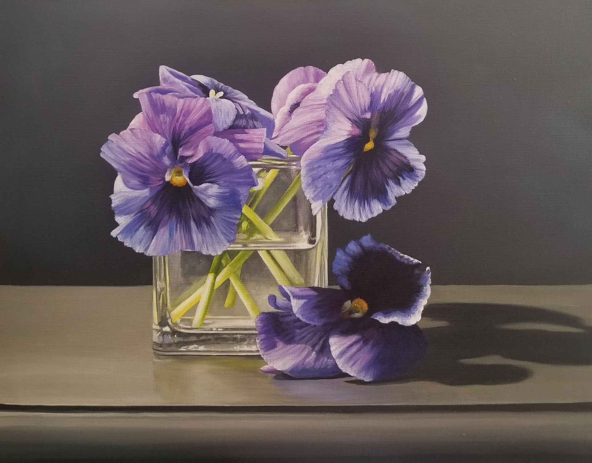 Pansies in Vase by Loren DiBenedetto, OPA