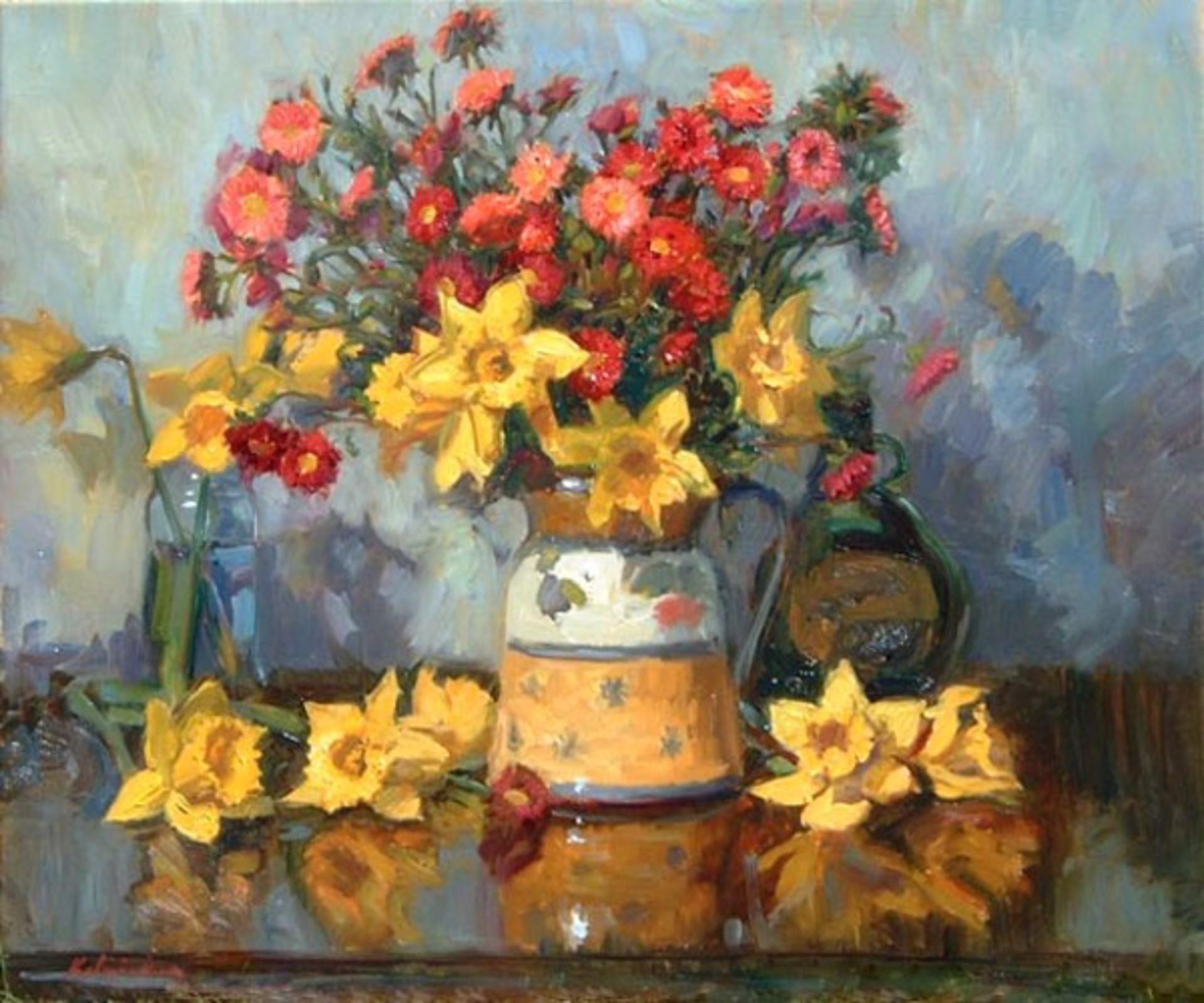 Daffodils in Pitcher by William J. Kalwick Jr.