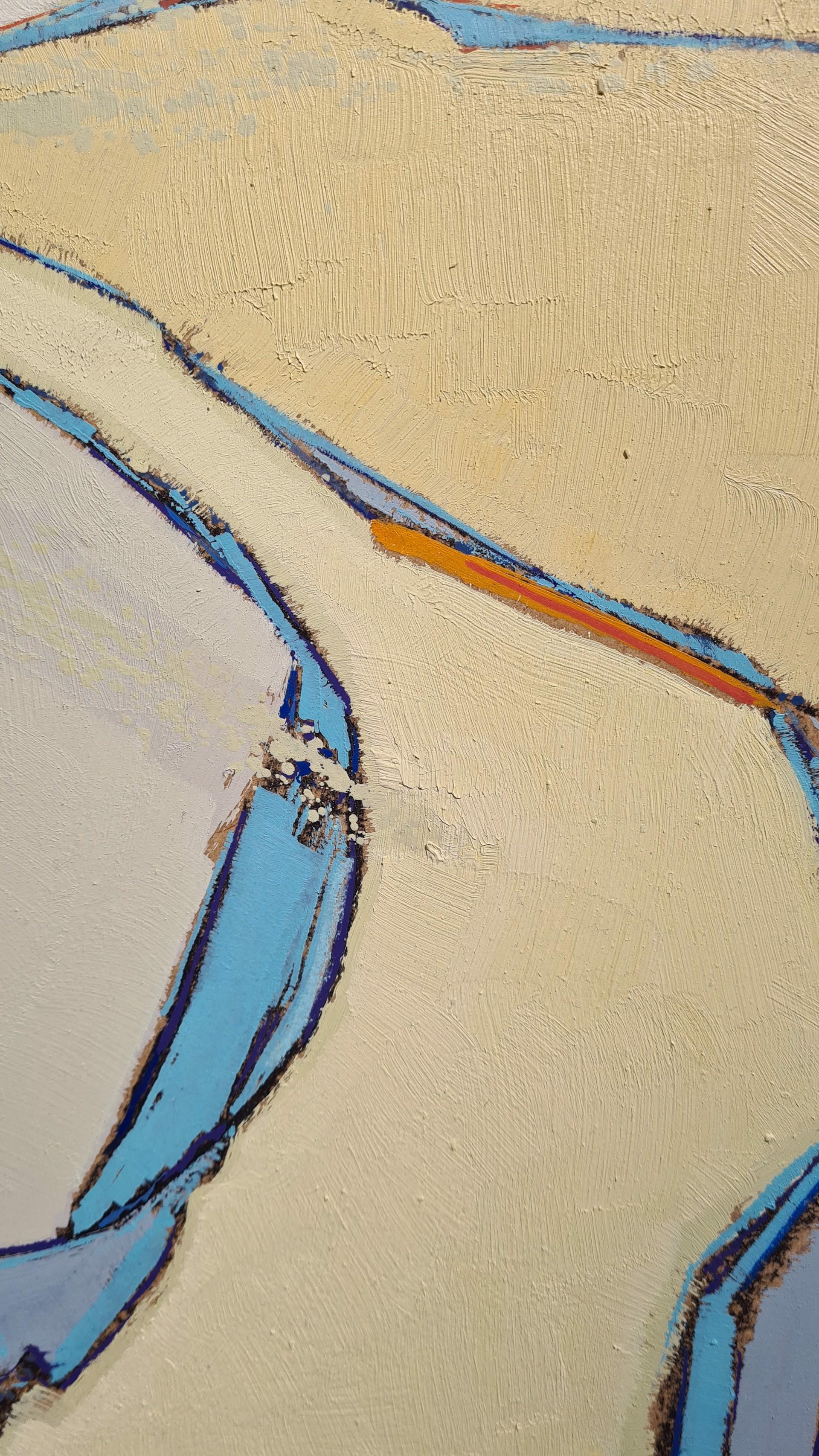 Ribbons of Blue Water, Holkam Beach, Norfolk by Daniel Cole