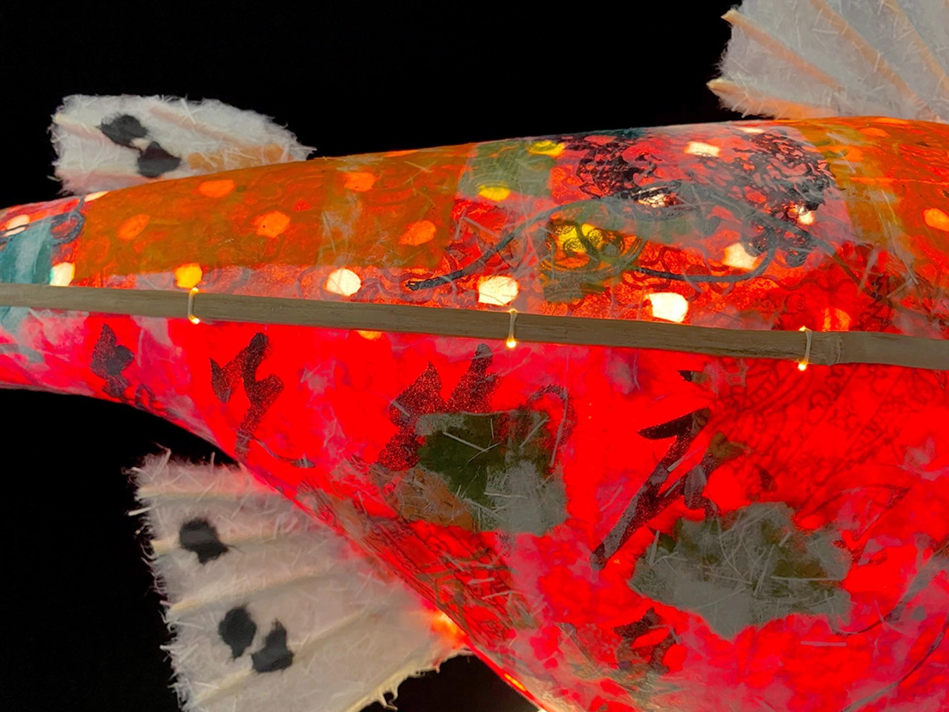 Deep Red Saffron Salmon by Elaine Hanowell