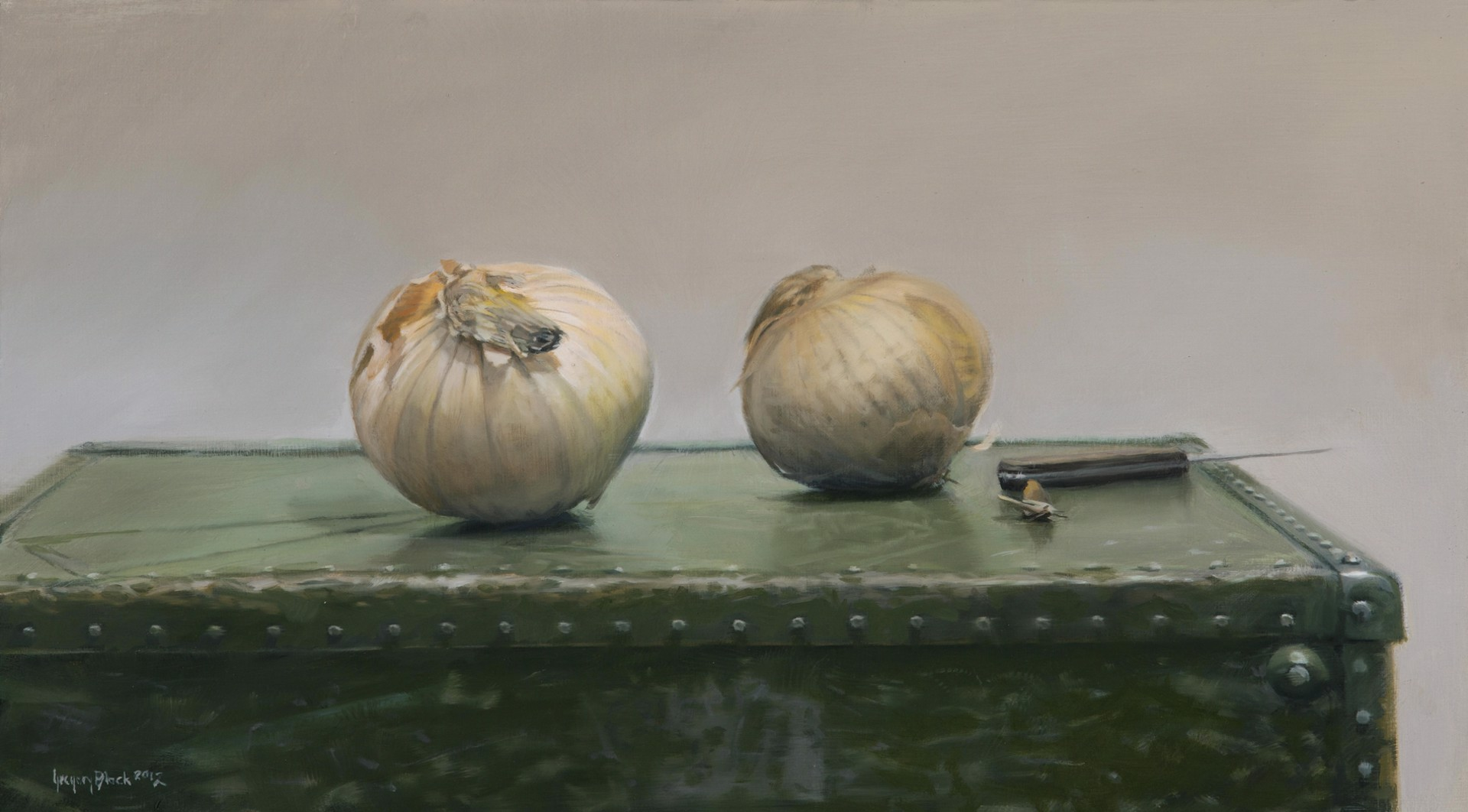 Onions and Suitcase by Gregory Block
