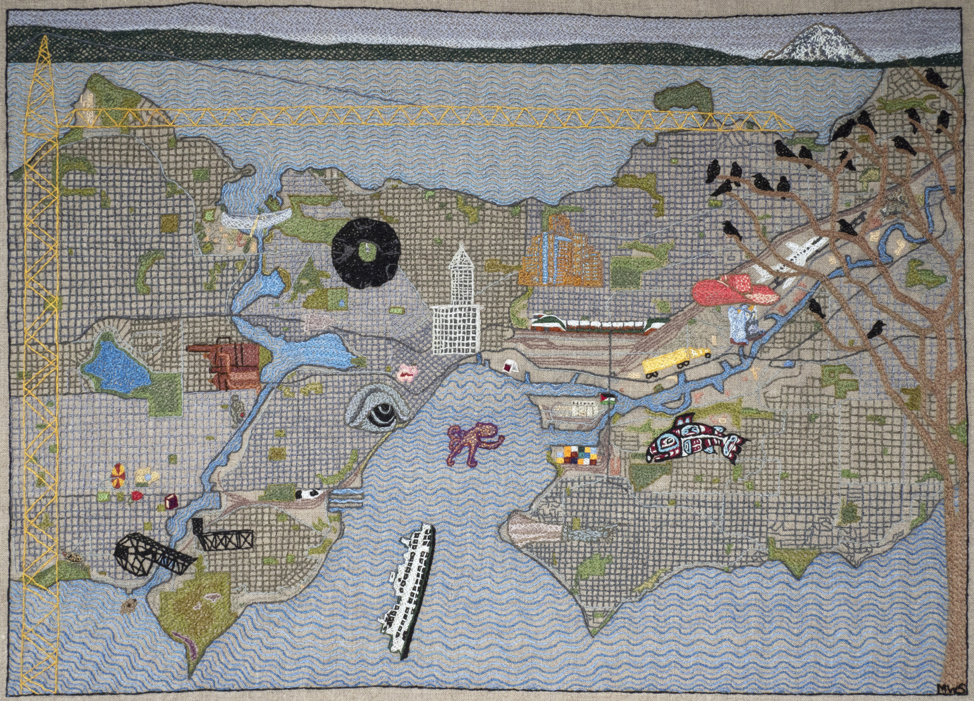 Resident Map of Seattle by Martha Shade