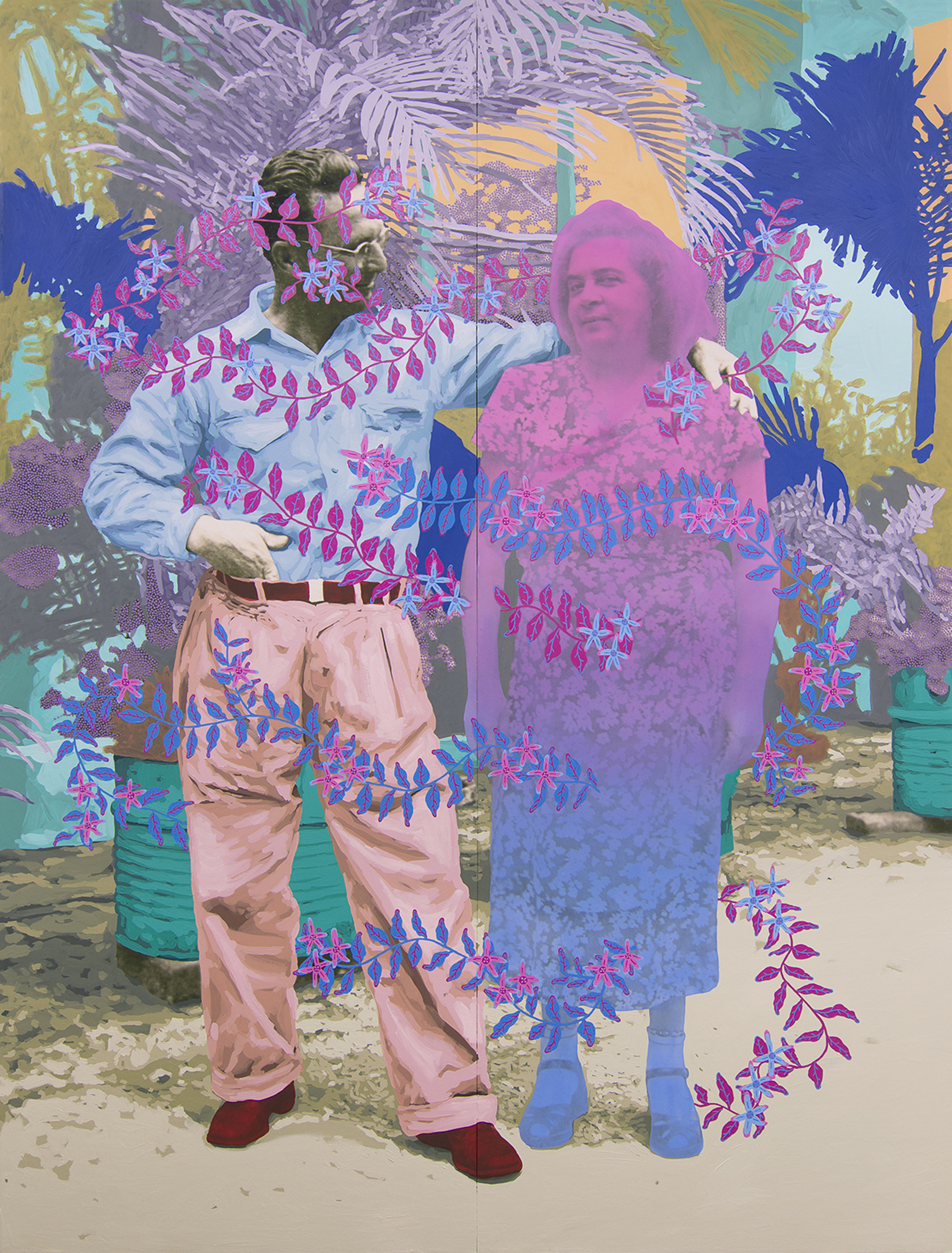 Untitled (Mischievous Couple) by Daisy Patton
