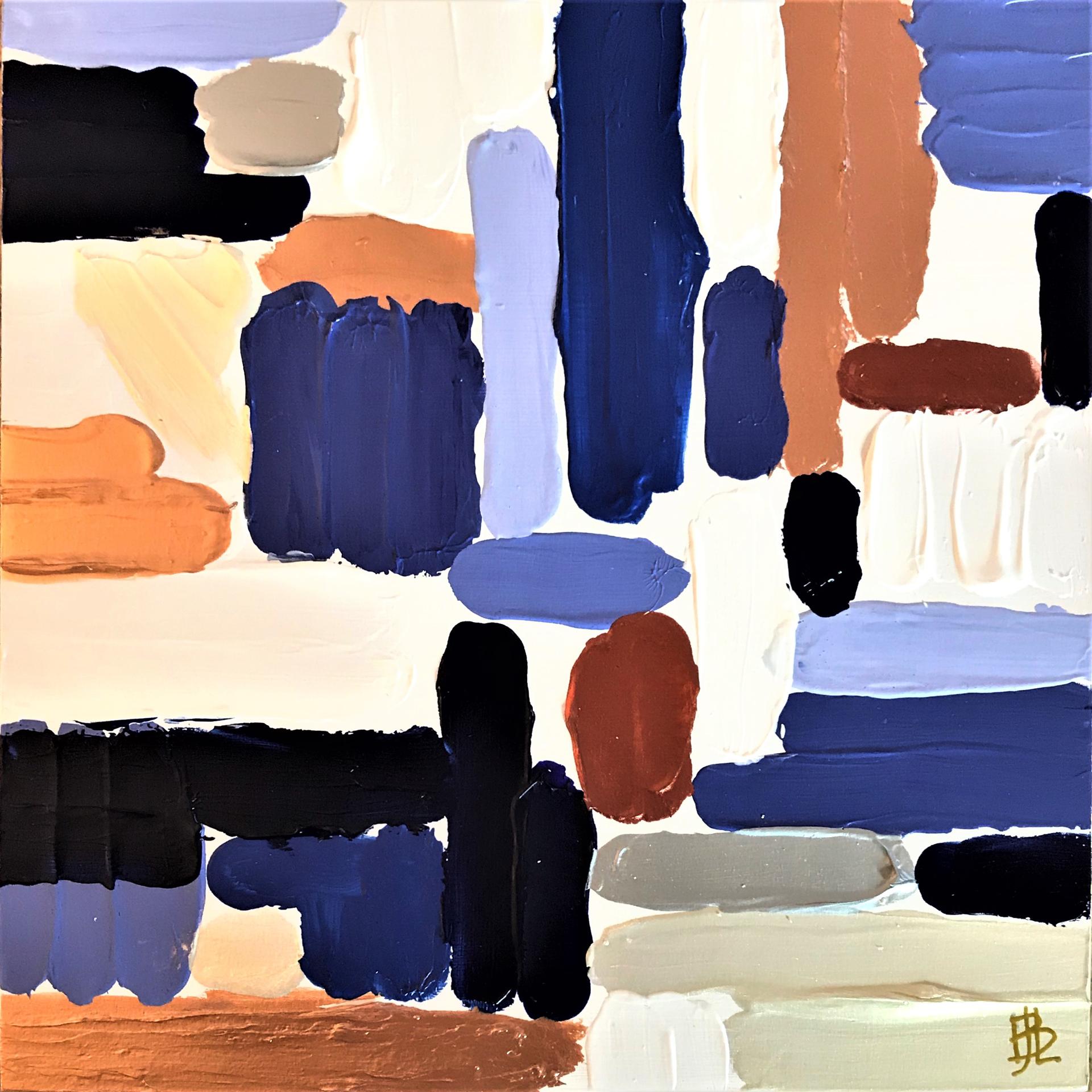 Royal Blue Fields by Leslie Poteet Busker