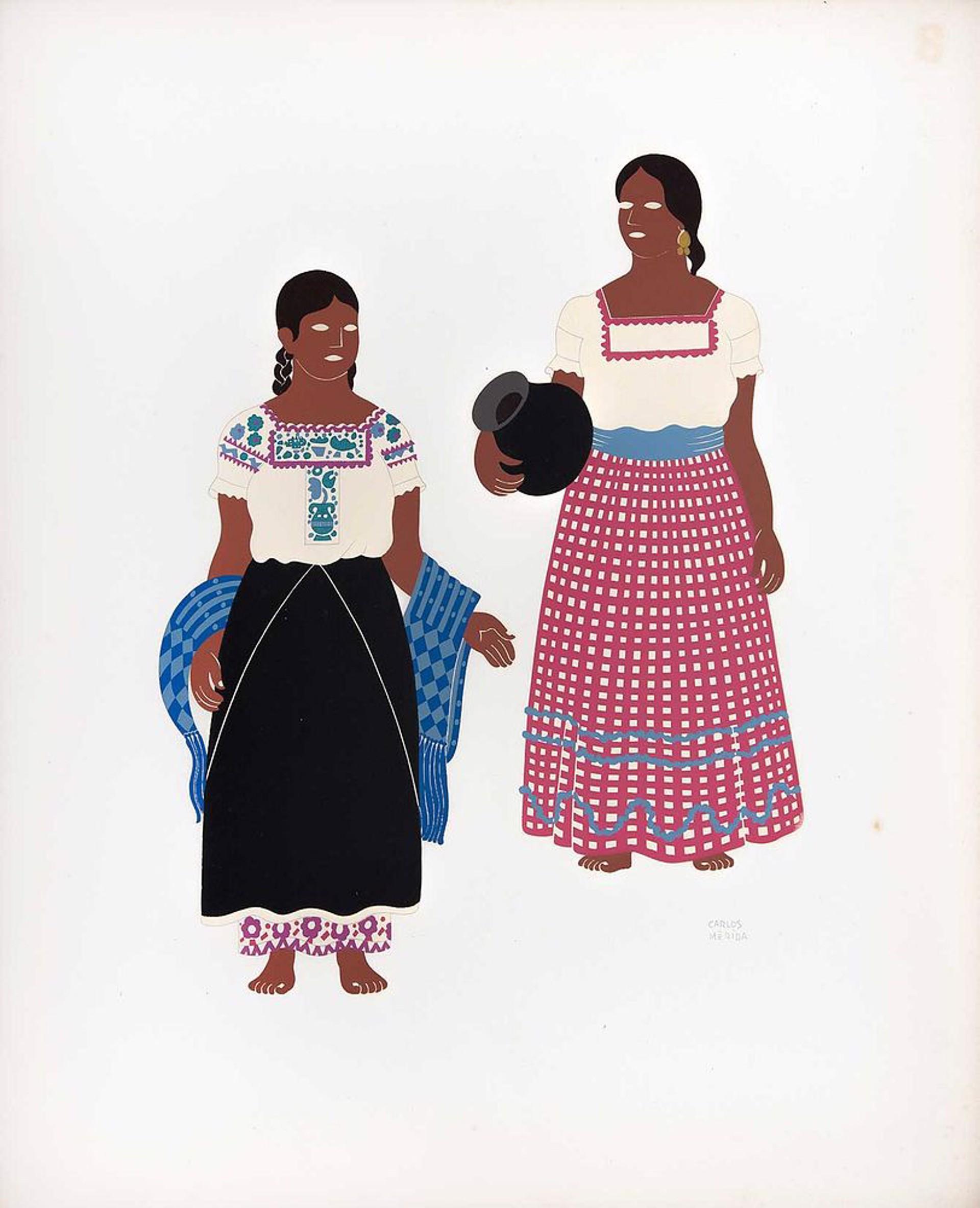 Toltecs of the State of Puebla by Carlos Mérida (1891 - 1985)