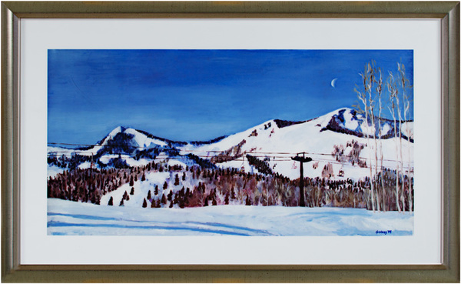 Skiing in the Western Rockies by Catherine Holmburg