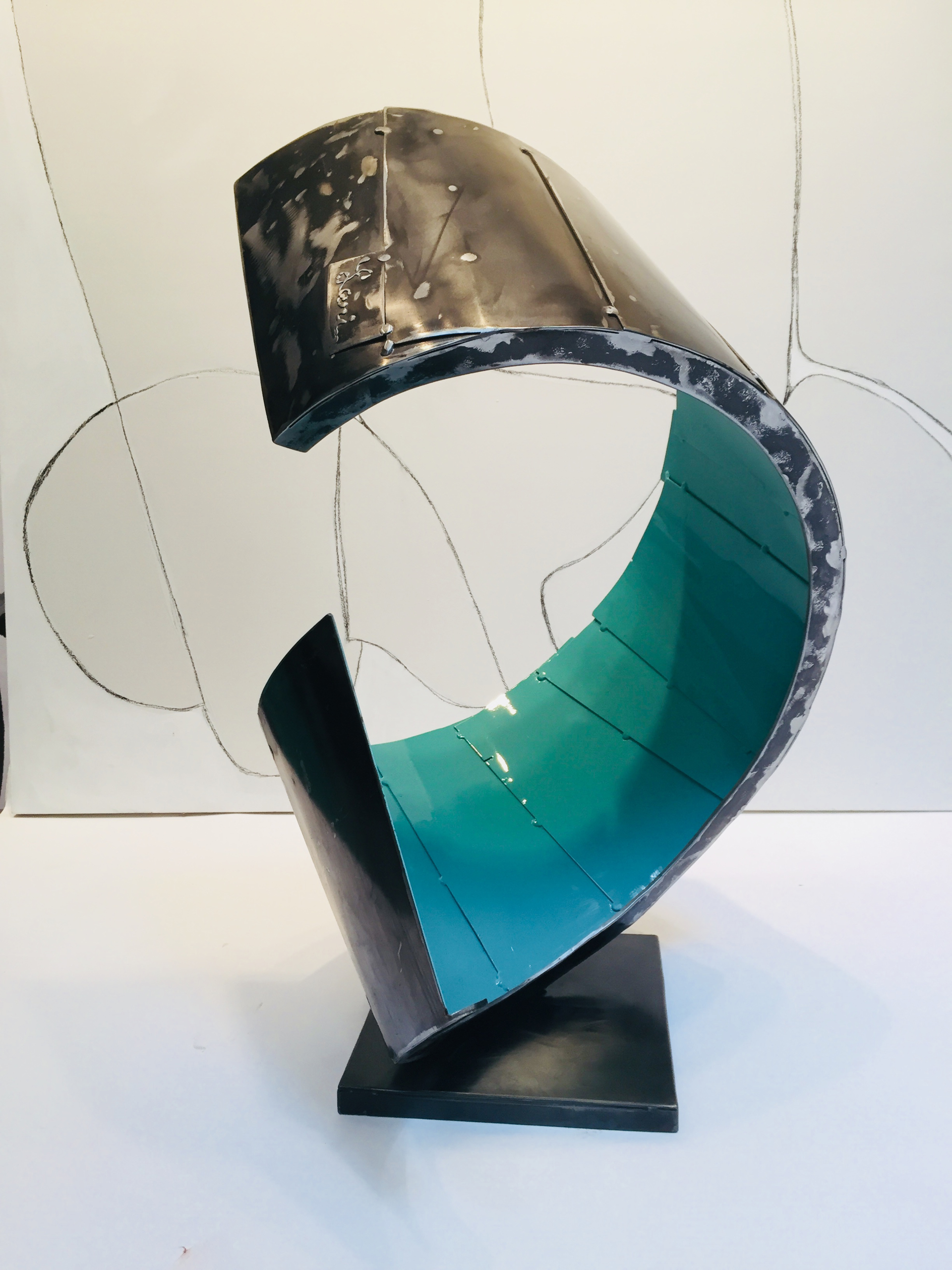 Turquoise Curl by Dennis Leri