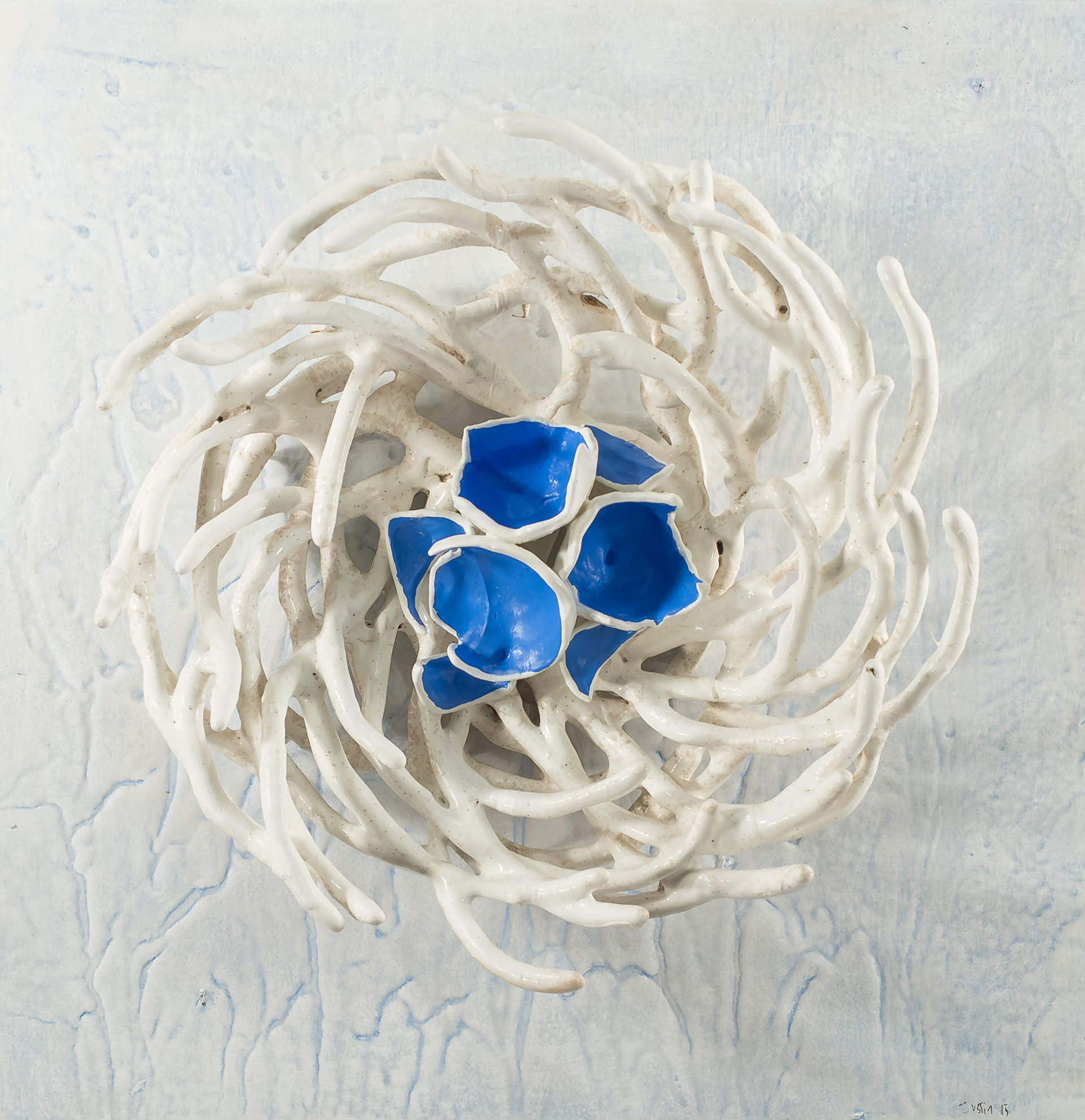 WELDED STEEL NEST  by JUSTIN GAFFREY