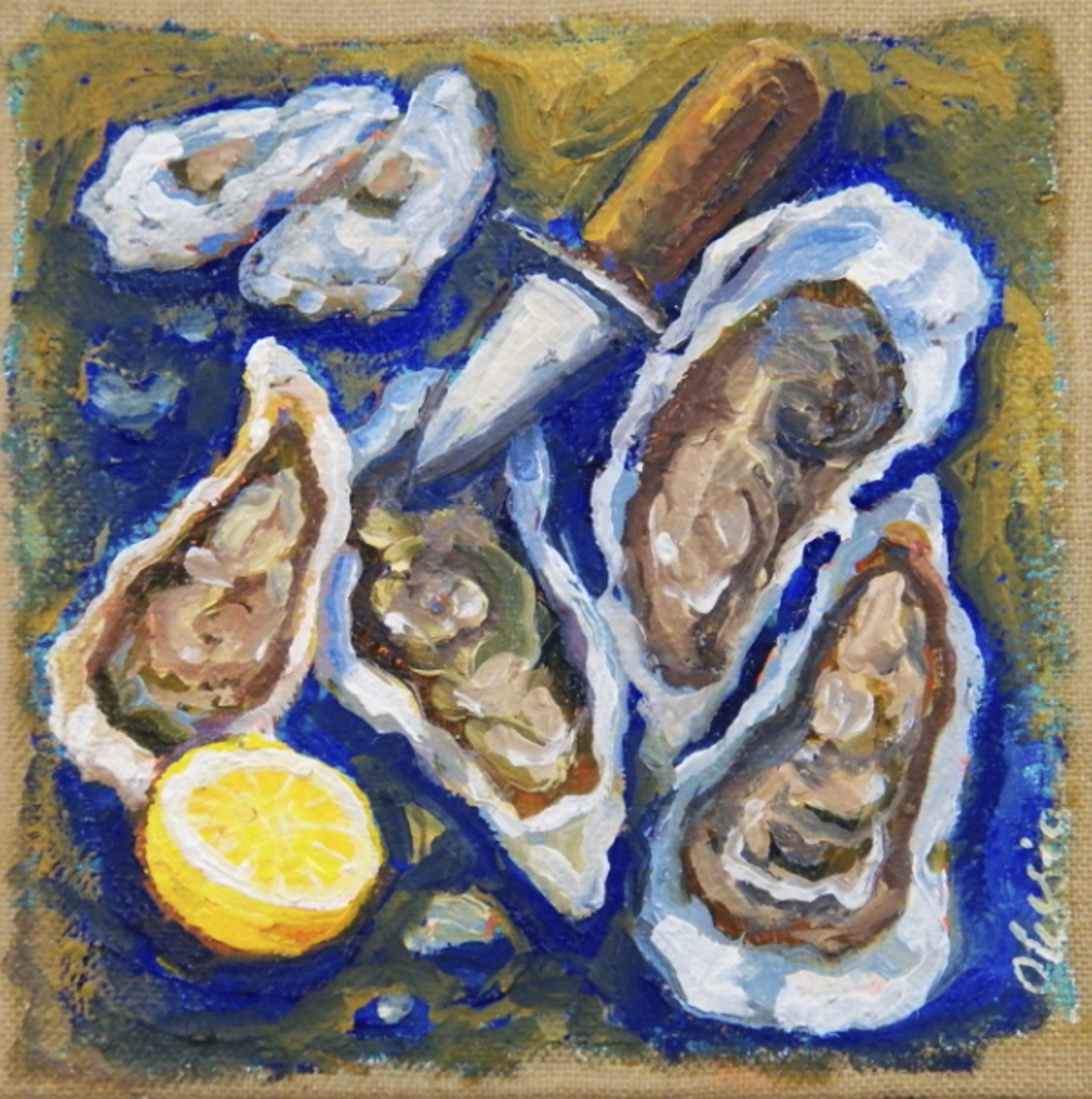 Blue Oysters I by Olessia Maximenko