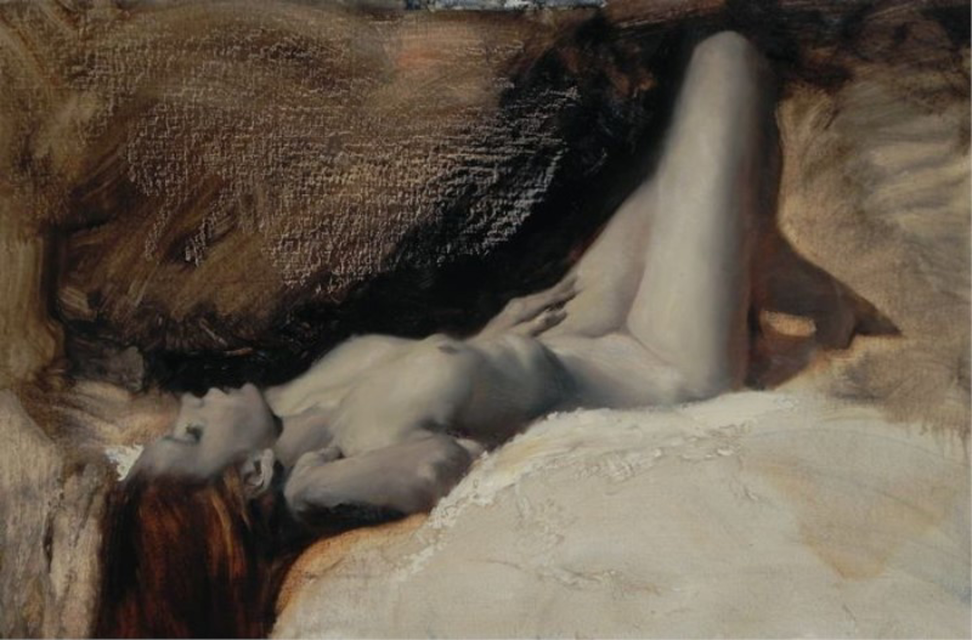 Reclining Nude in Three Colours 1 by Michael Alford