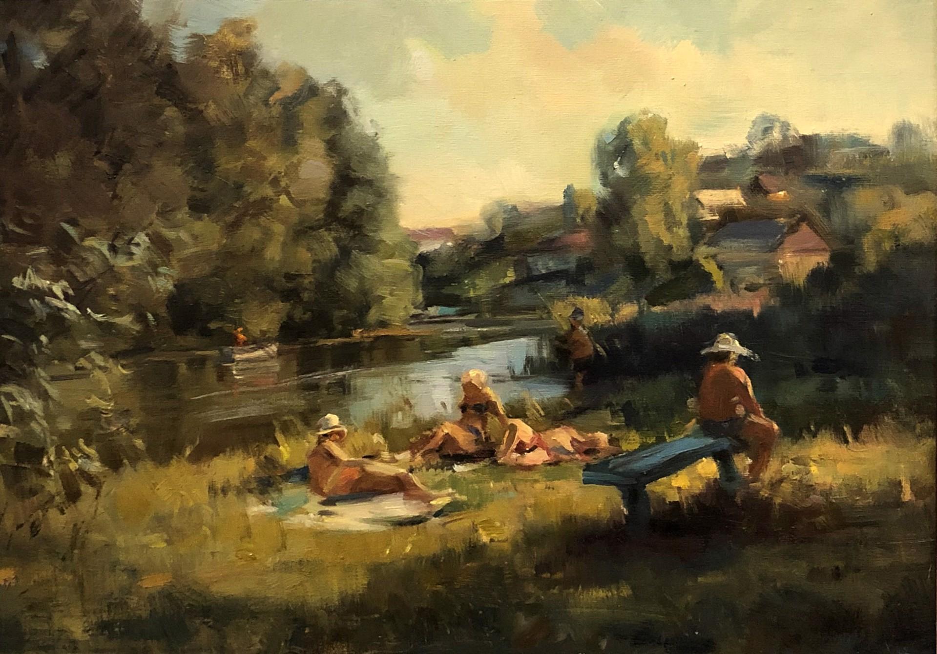 Svetlana S. Lisitsina - On the River by Russian Artists