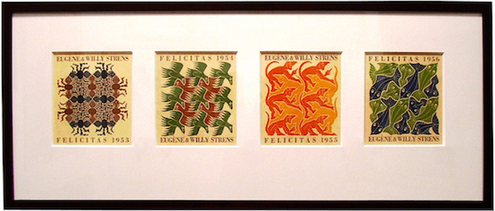 Strens Suite of Four (Earth, Water, Fire, Sky) by M.C. Escher