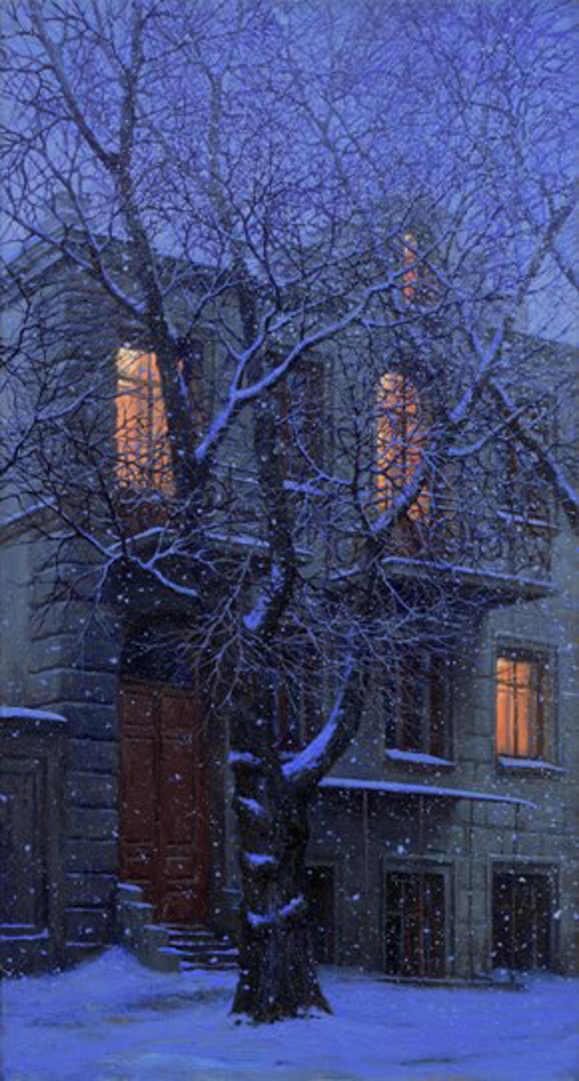 Snowy Evening by Alexei Butirskiy